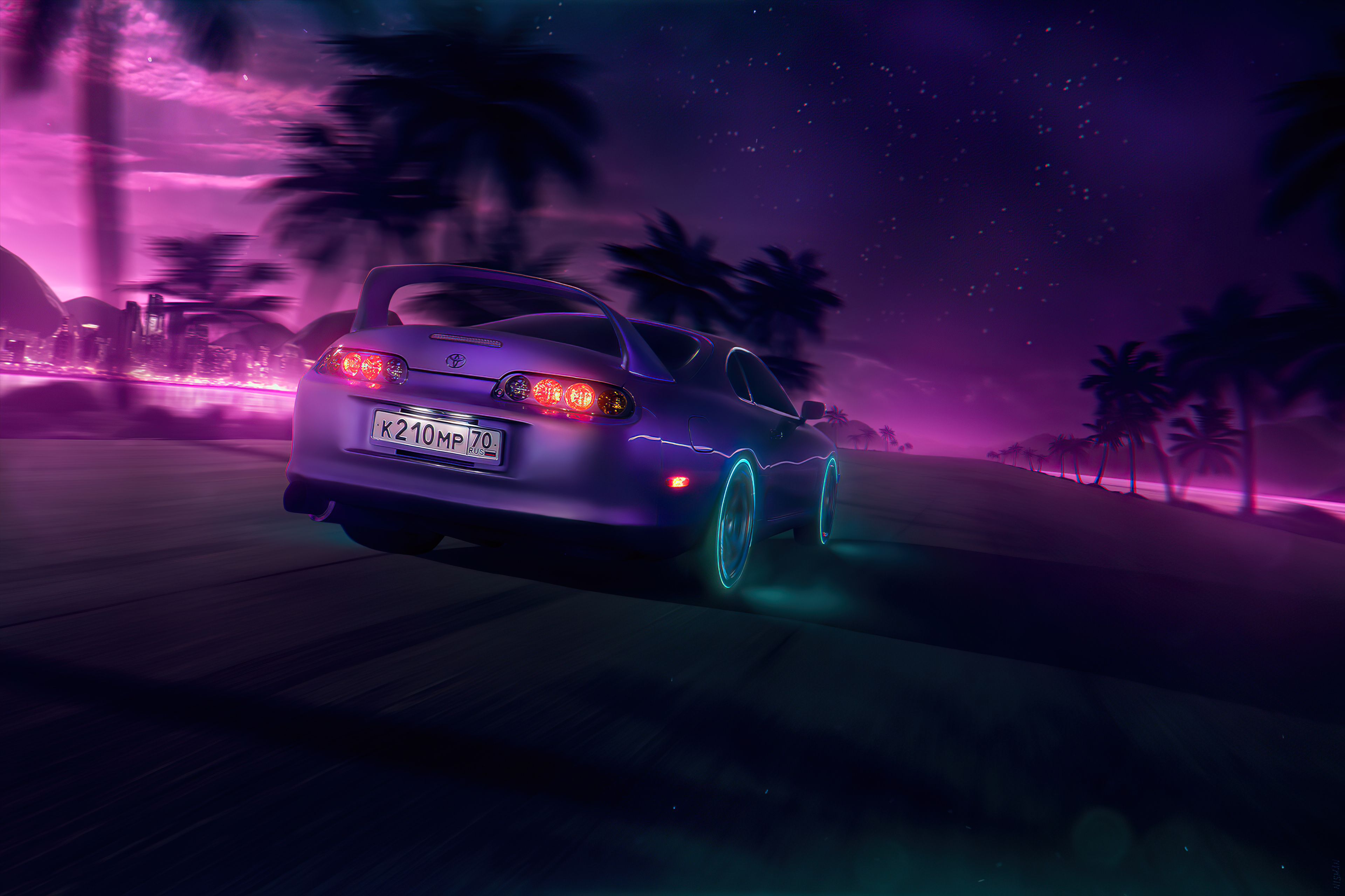 Neonnight Toyota Supra 4k Hd Cars 4k Wallpapers Images Backgrounds Photos And Pictures