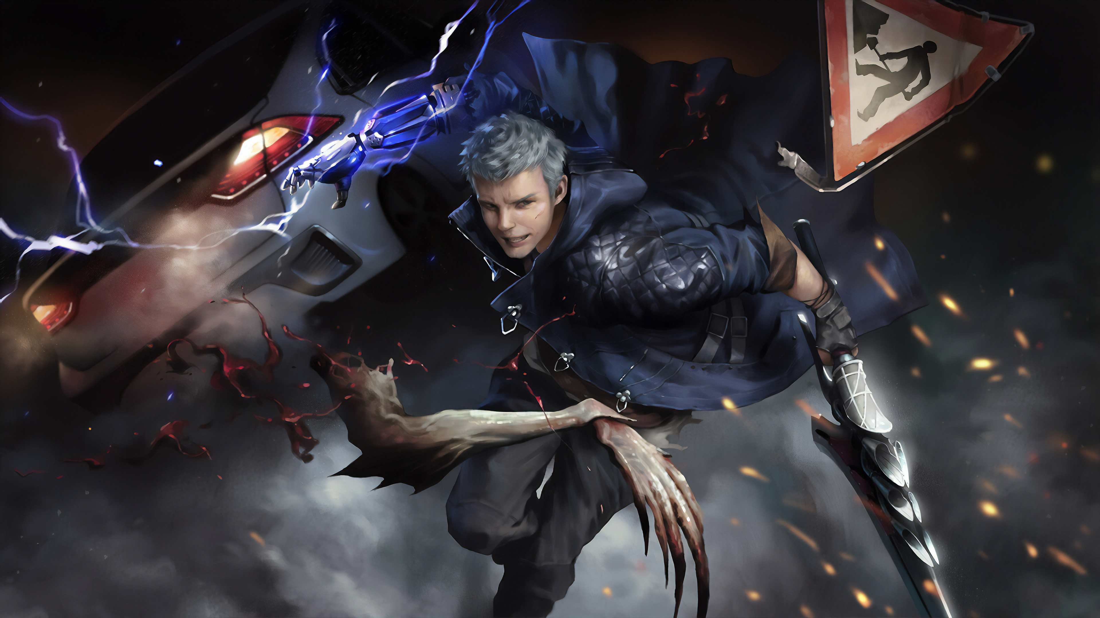 1600x1200 Nero In Devil May Cry 5 4k Art 1600x1200