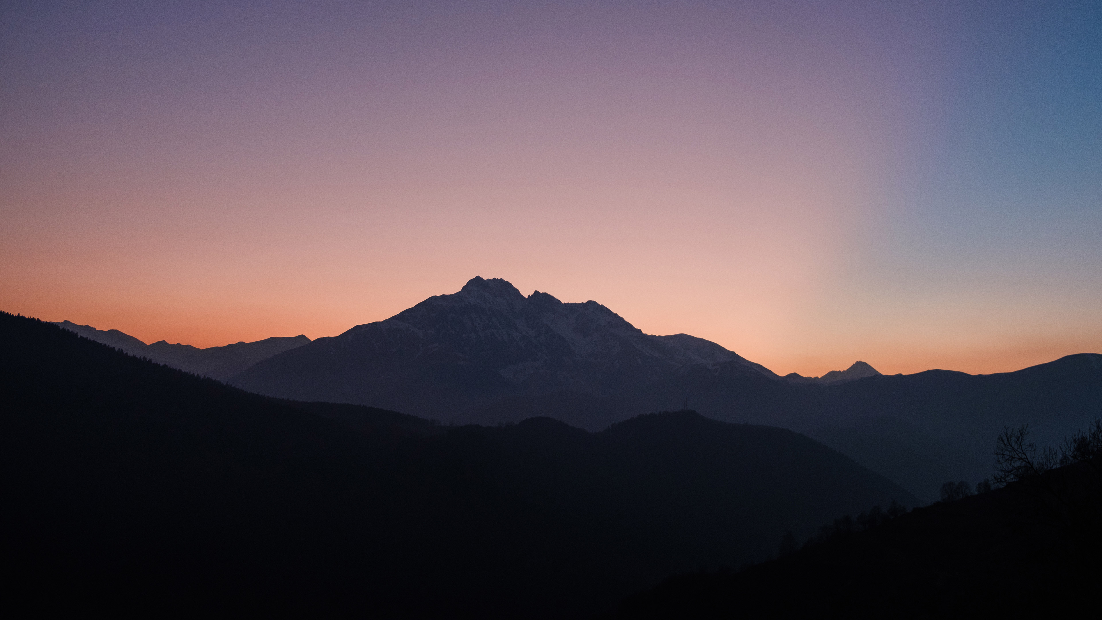 Nice Sunset Over Mountains 4k, HD Nature, 4k Wallpapers ...