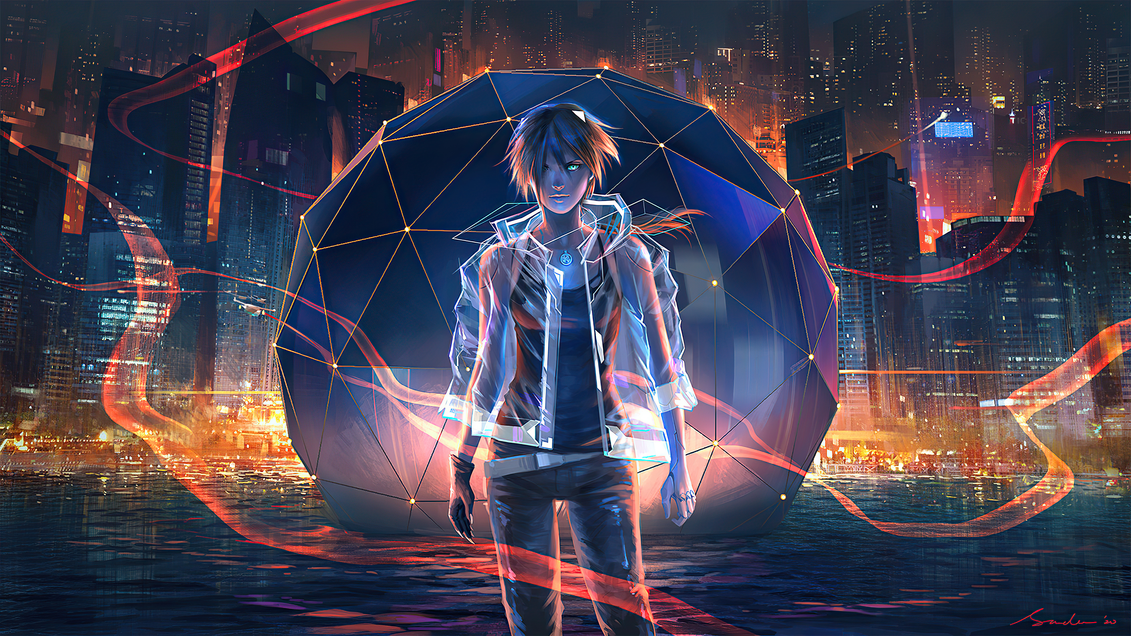 Night City Anime Boy 4k Hd Anime 4k Wallpapers Images Backgrounds Photos And Pictures