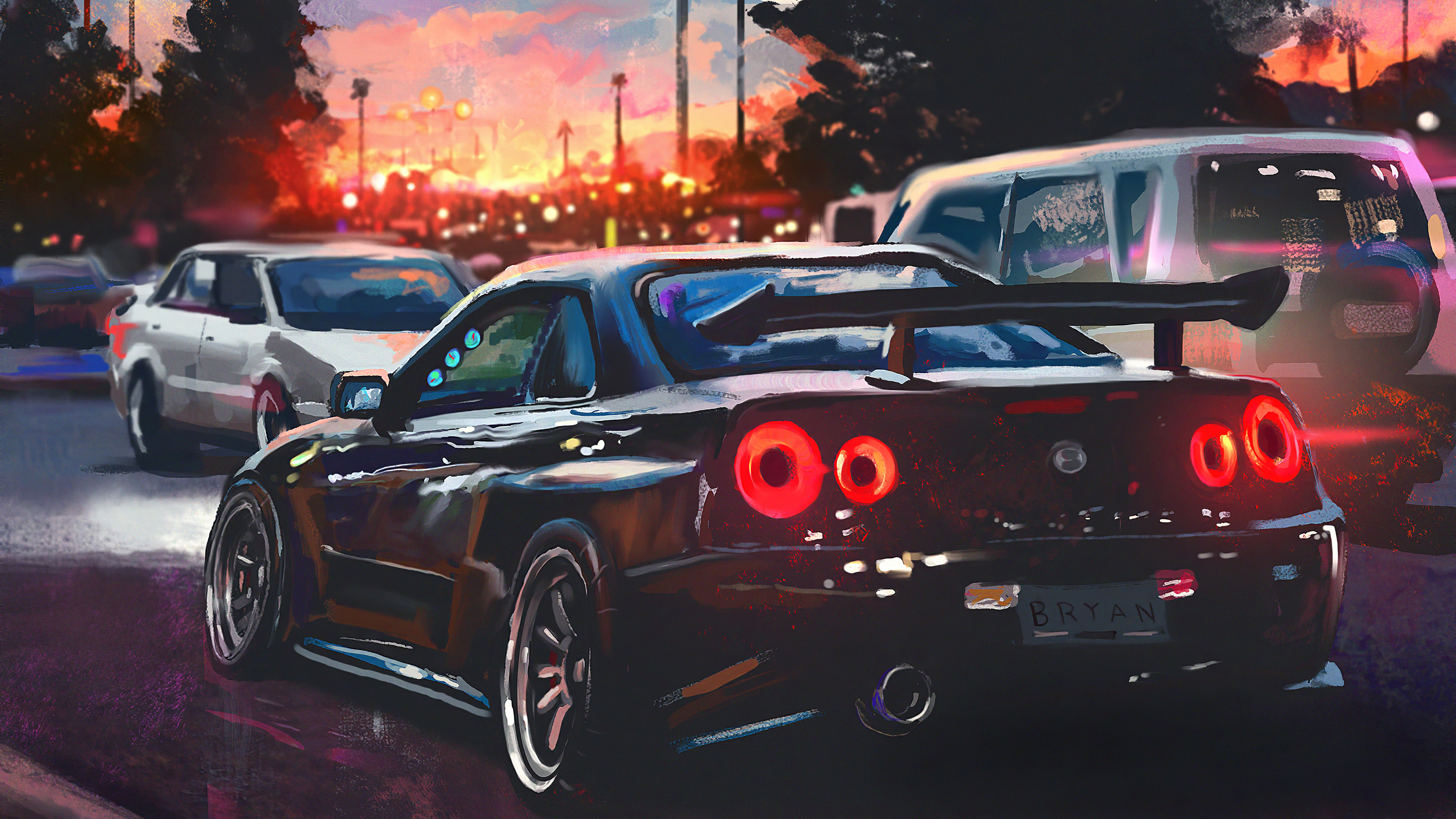 Nissan Skyline Painting Art 4k Hd Cars 4k Wallpapers Images Backgrounds Photos And Pictures