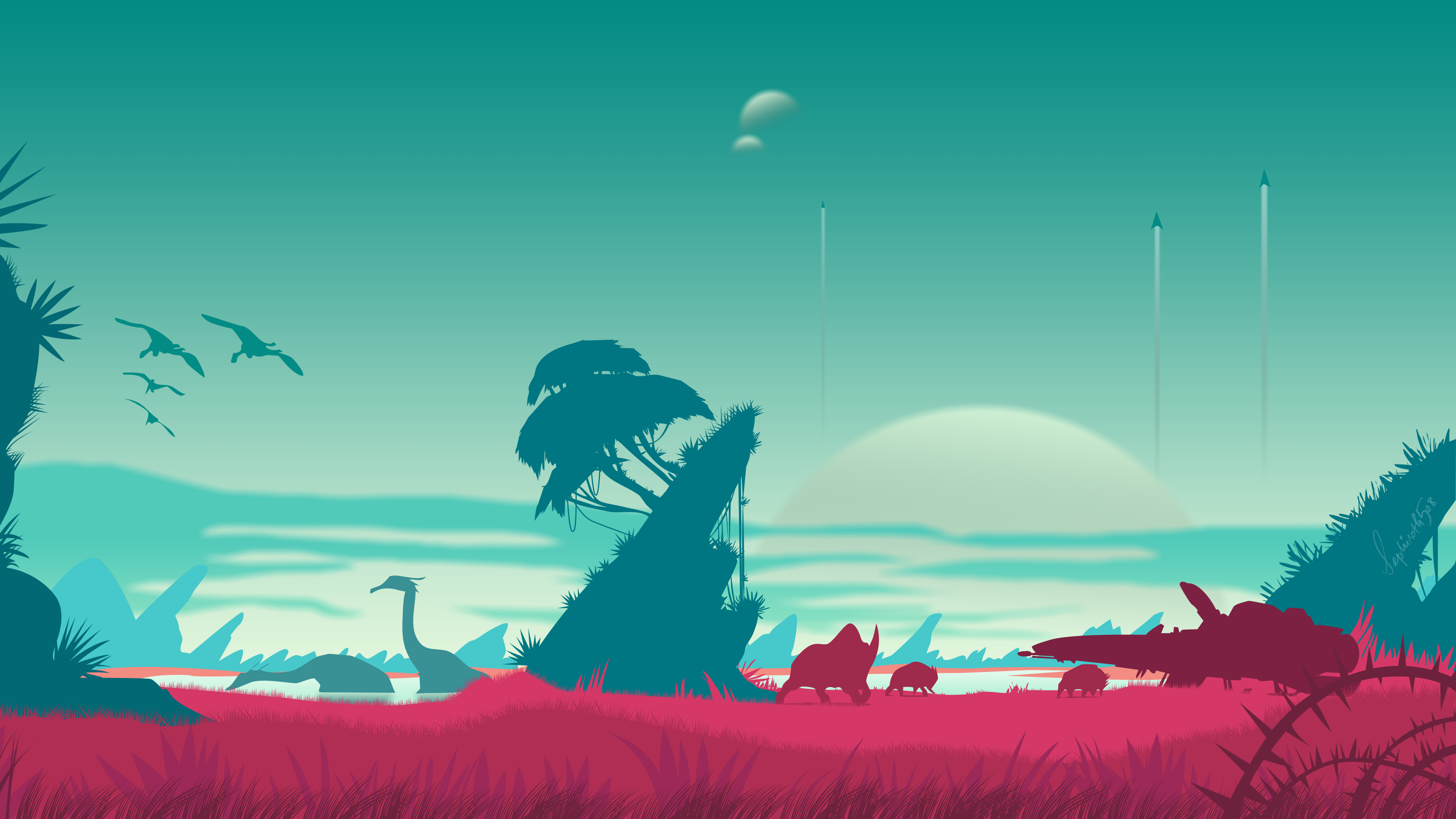 1920x1080 No Mans Sky Vector Landscape 4k Laptop Full HD ...