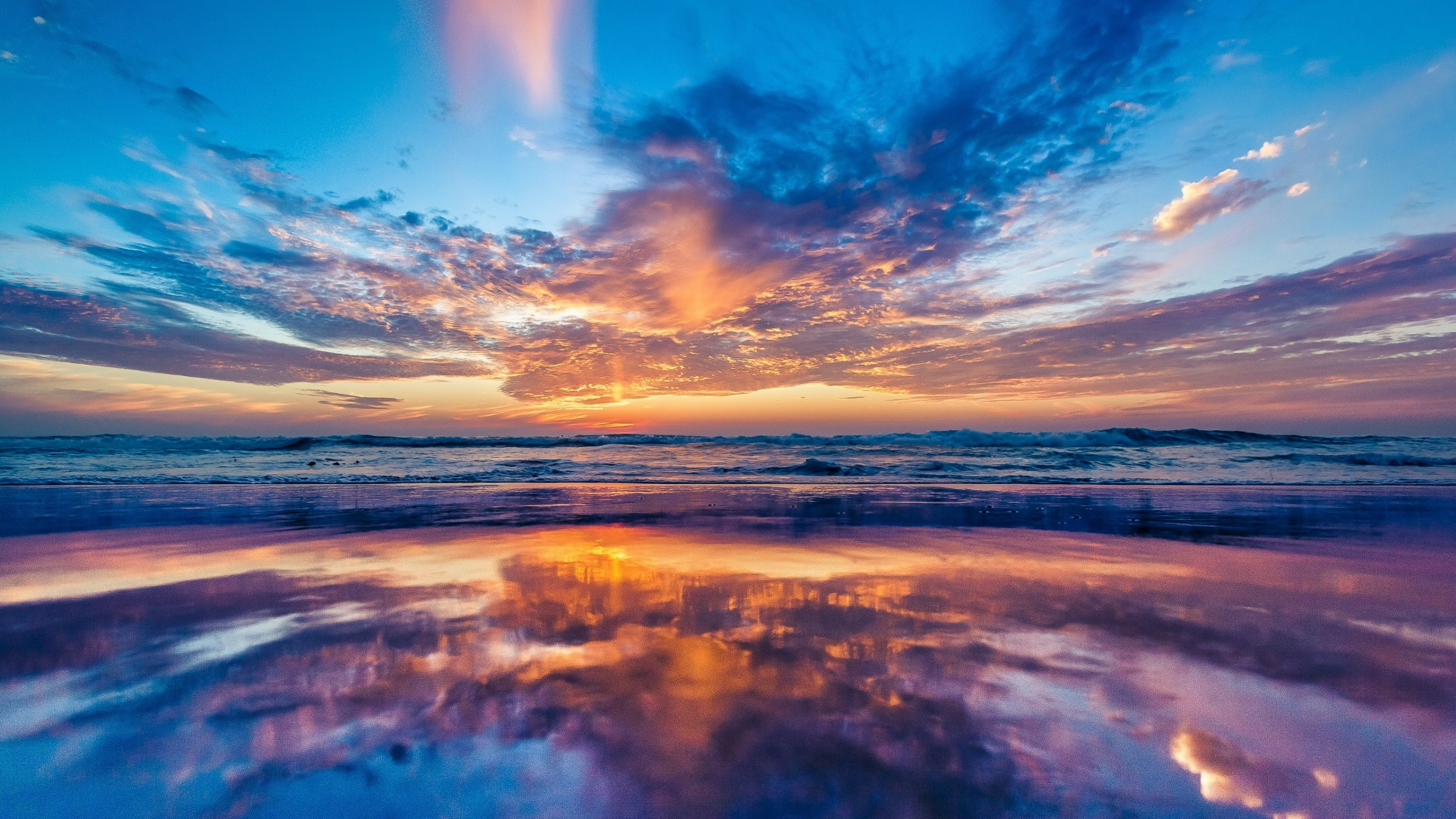 ocean sky sunset beach