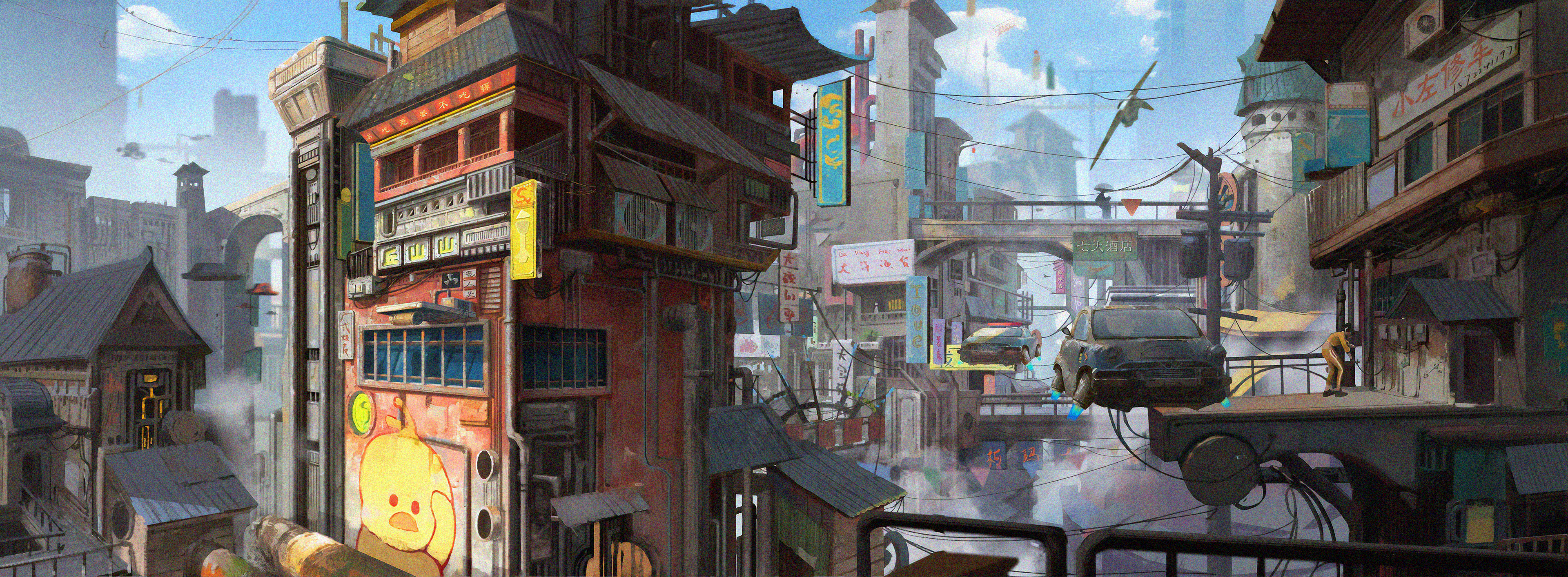 Old Map Floating City, HD Artist, 4k Wallpapers, Images ...