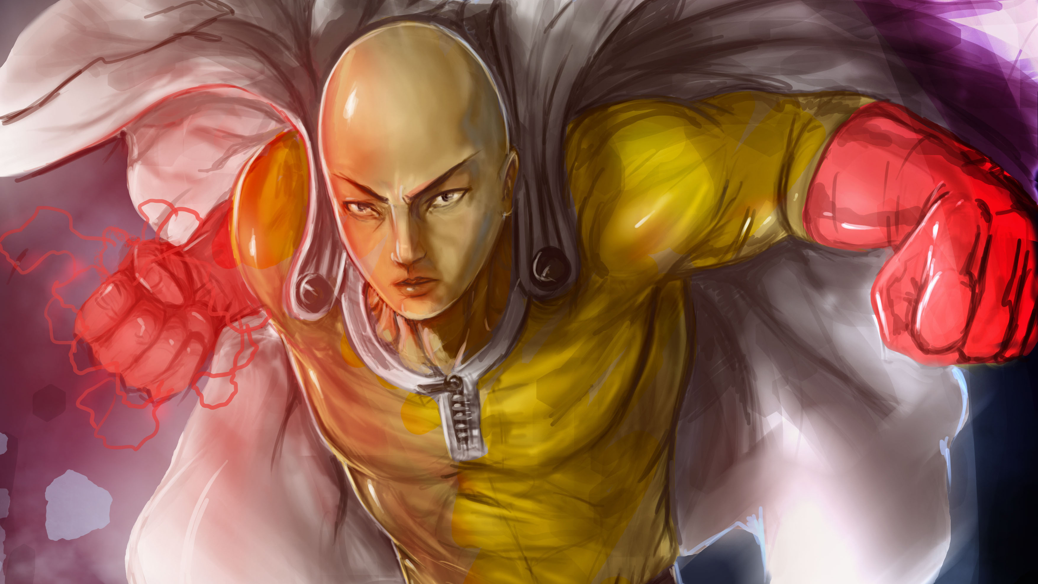 One Punch Man Artwork 4k Hd Anime 4k Wallpapers Images