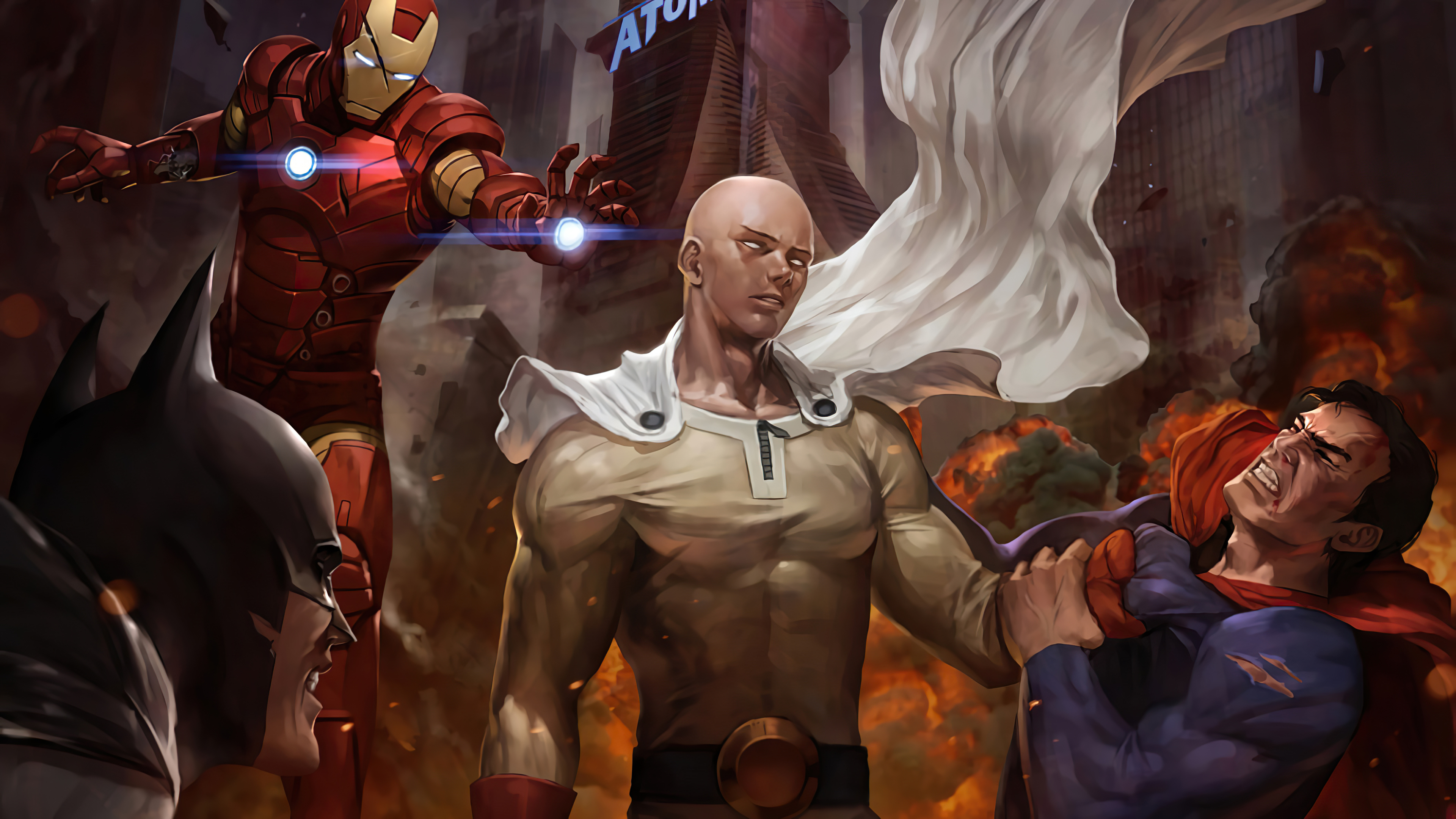 One Punch Man Vs Superman 4k Hd Superheroes 4k Wallpapers Images Backgrounds Photos And Pictures