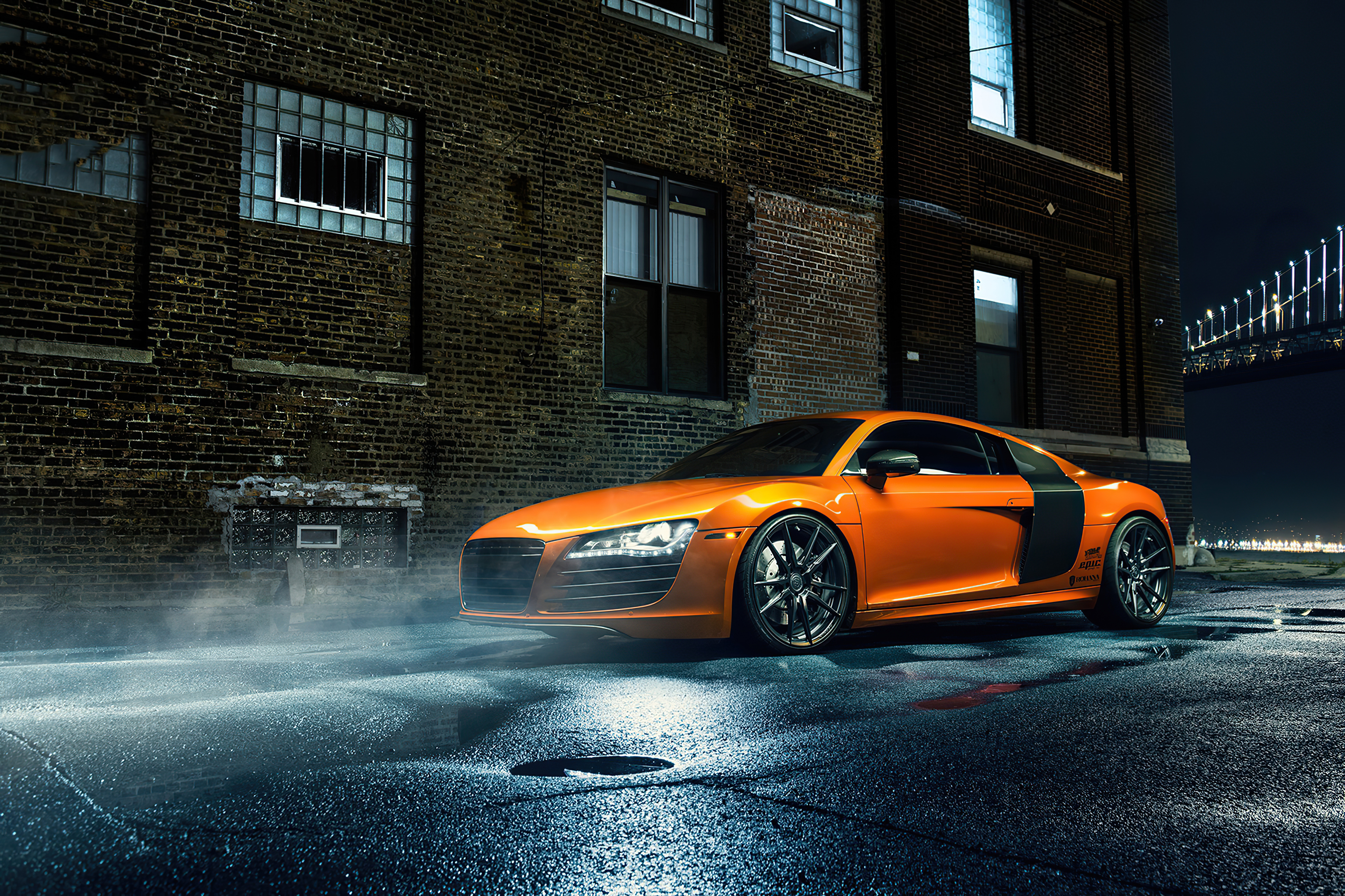 Orange Audi R8 Hd Cars 4k Wallpapers Images Backgrounds Photos And Pictures