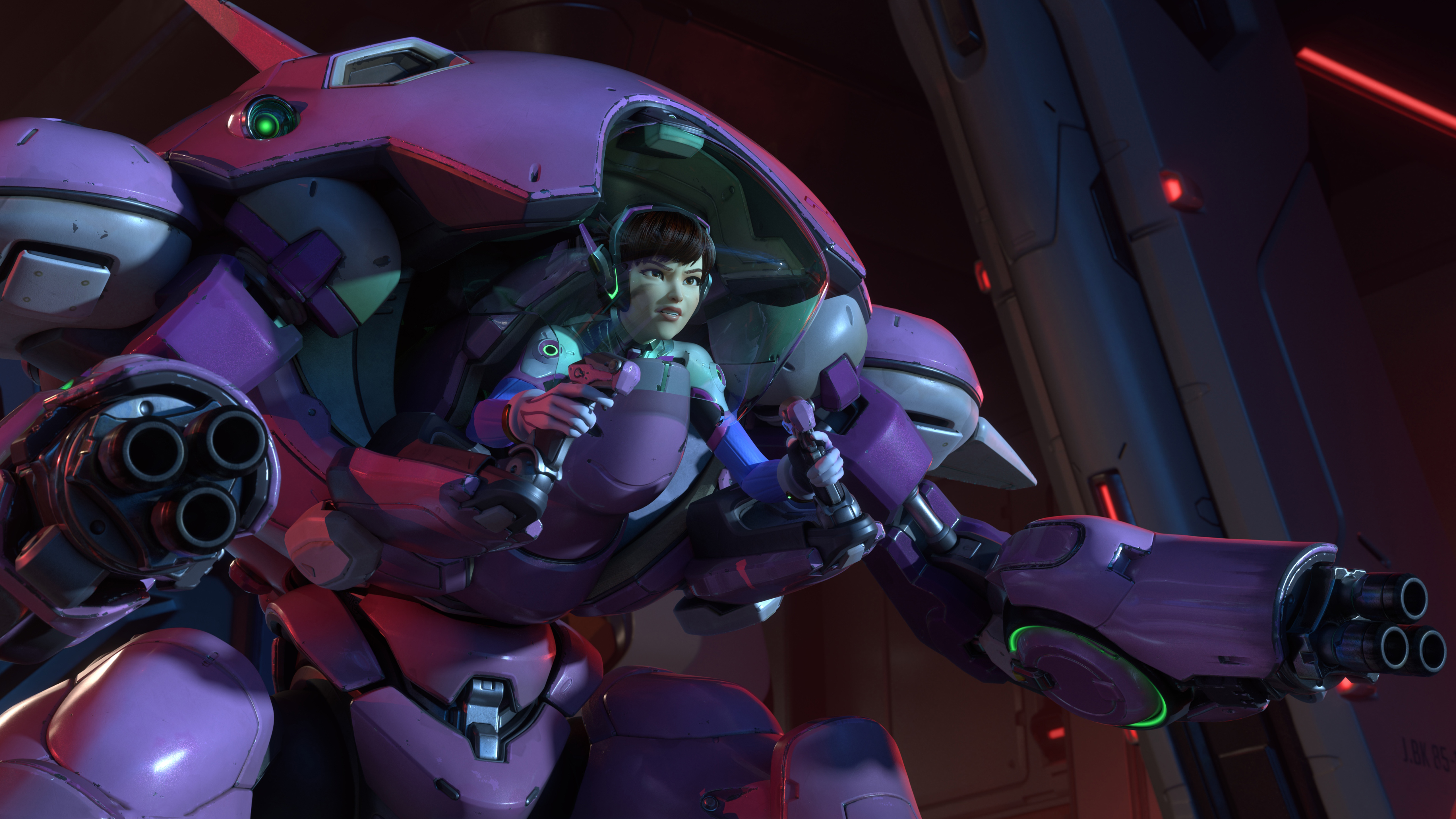 Overwatch Dva With Meka 5k Hd Games 4k Wallpapers Images Backgrounds Photos And Pictures