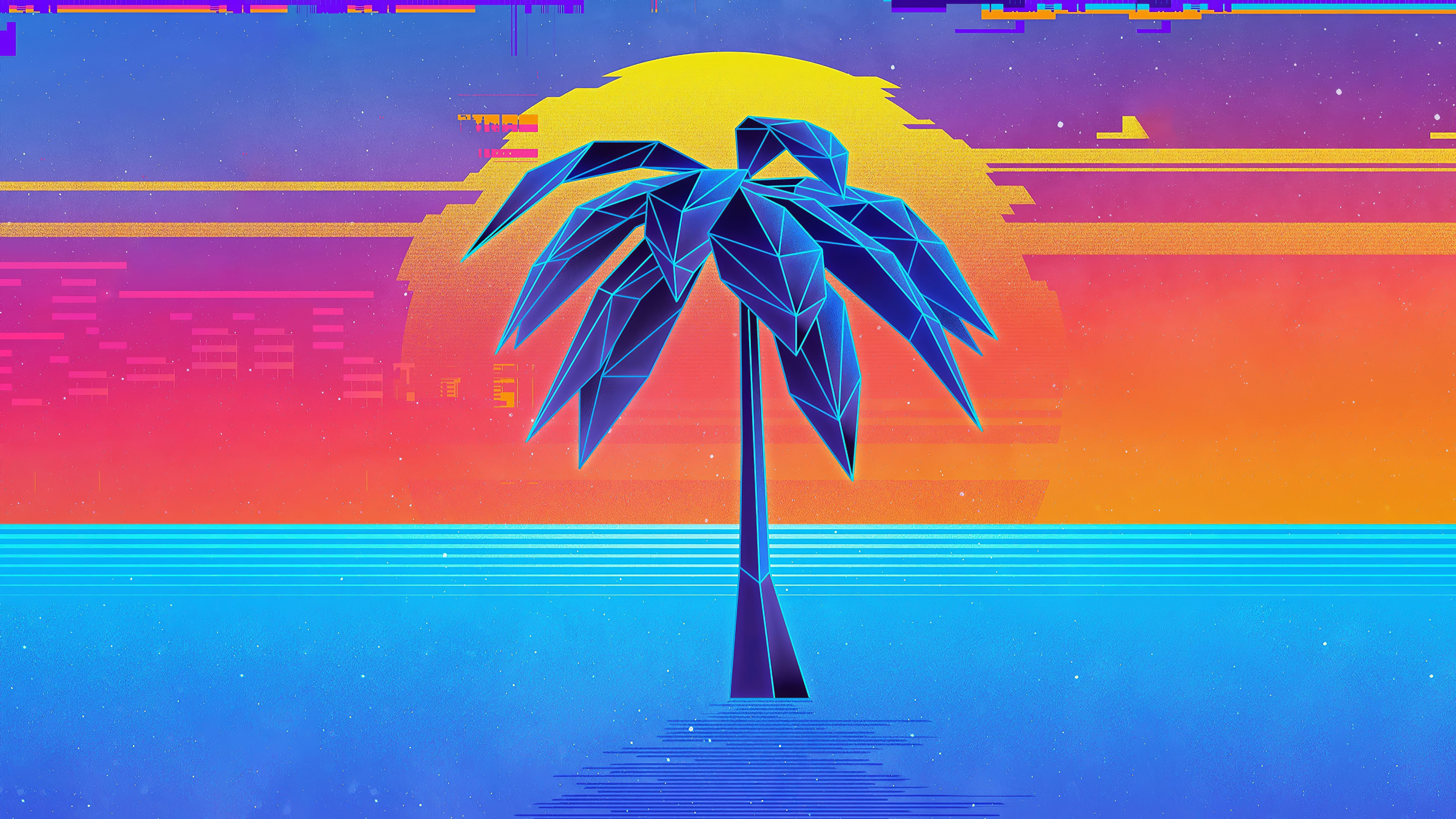 1152x864 Palm Tree Retro Synthwave 4k 1152x864 Resolution Hd 4k Wallpapers Images Backgrounds Photos And Pictures