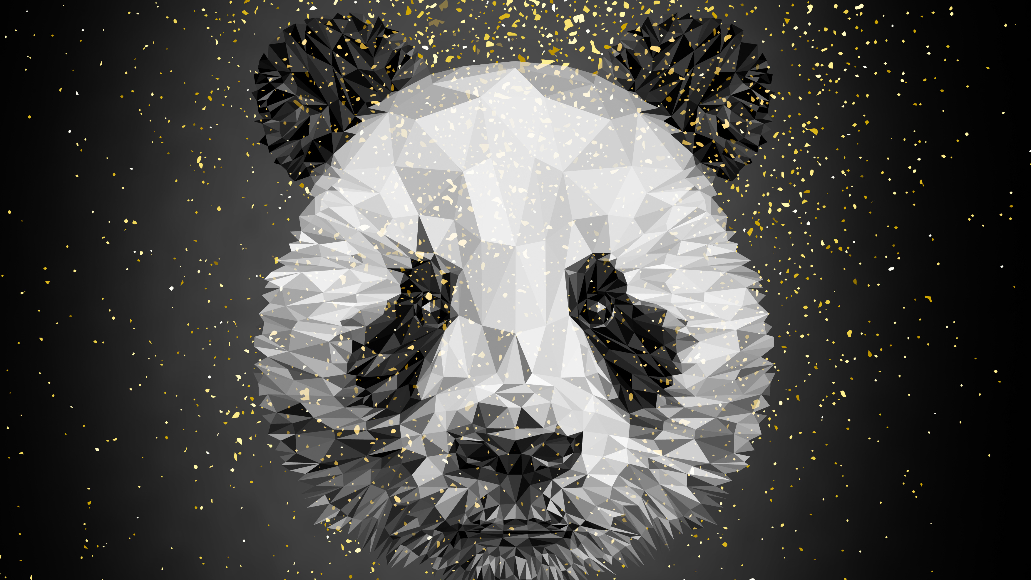 Panda Low Poly 4k, HD Artist, 4k