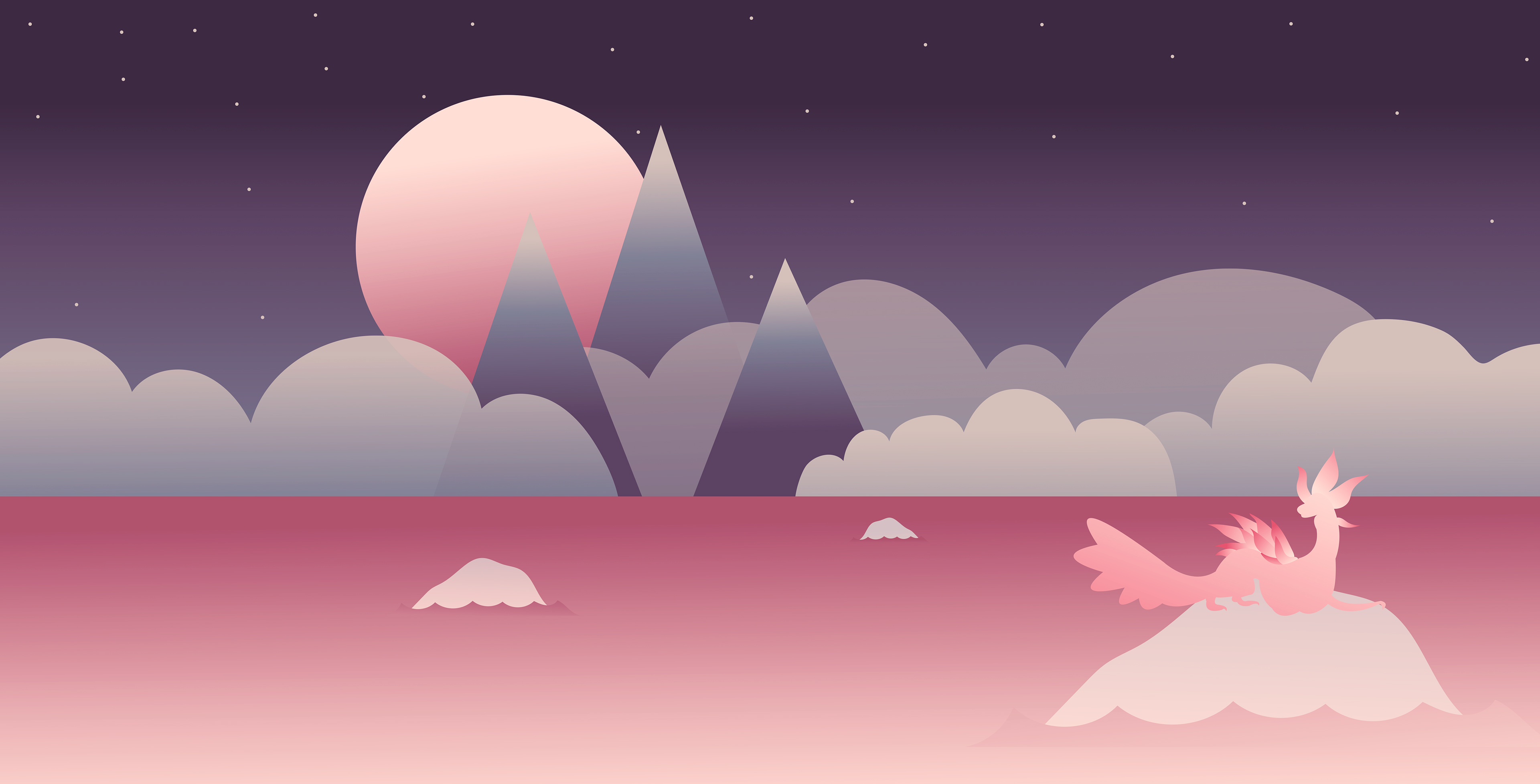 Pink World Minimalist Hd Artist 4k Wallpapers Images Backgrounds Photos And Pictures