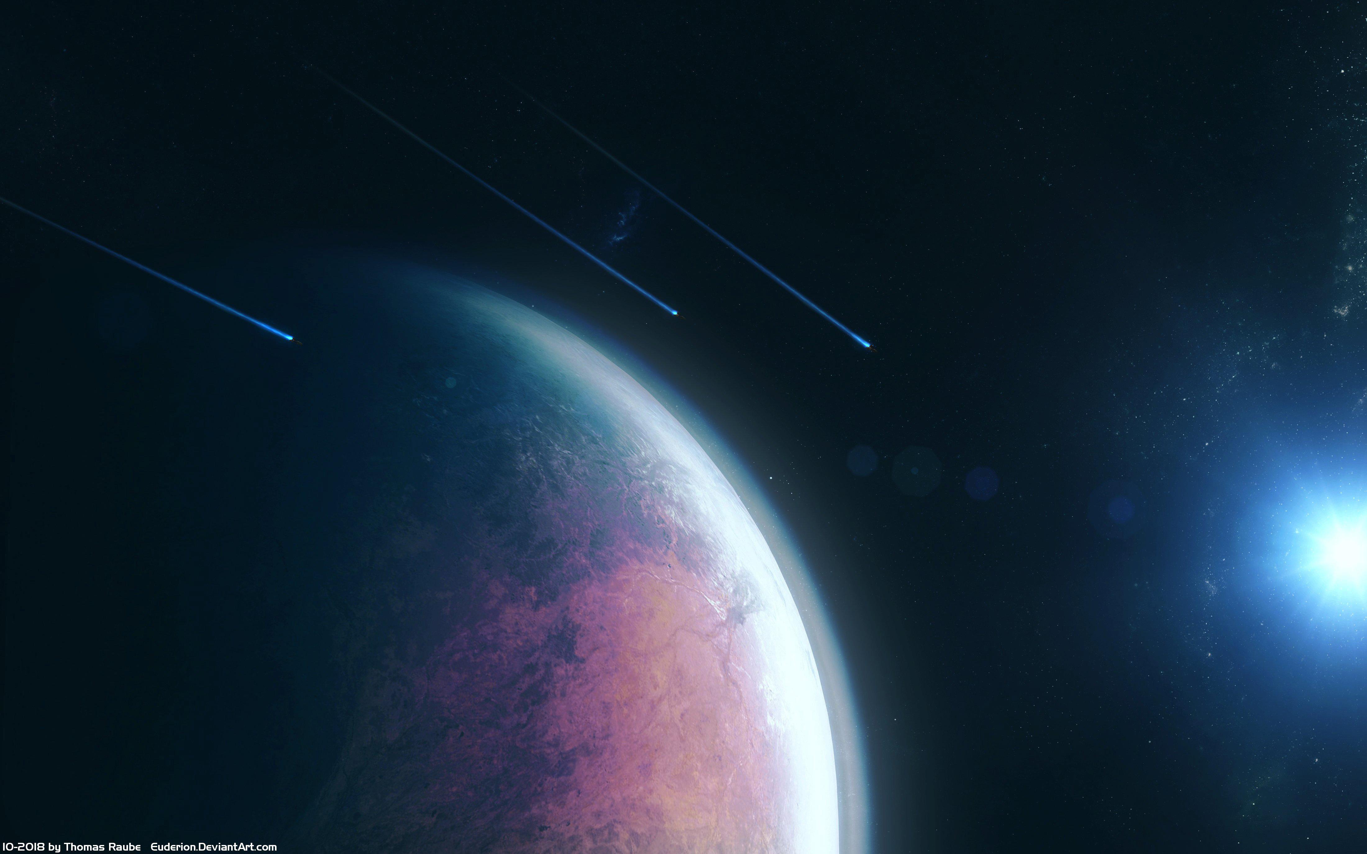 planet space scifi 4k dn