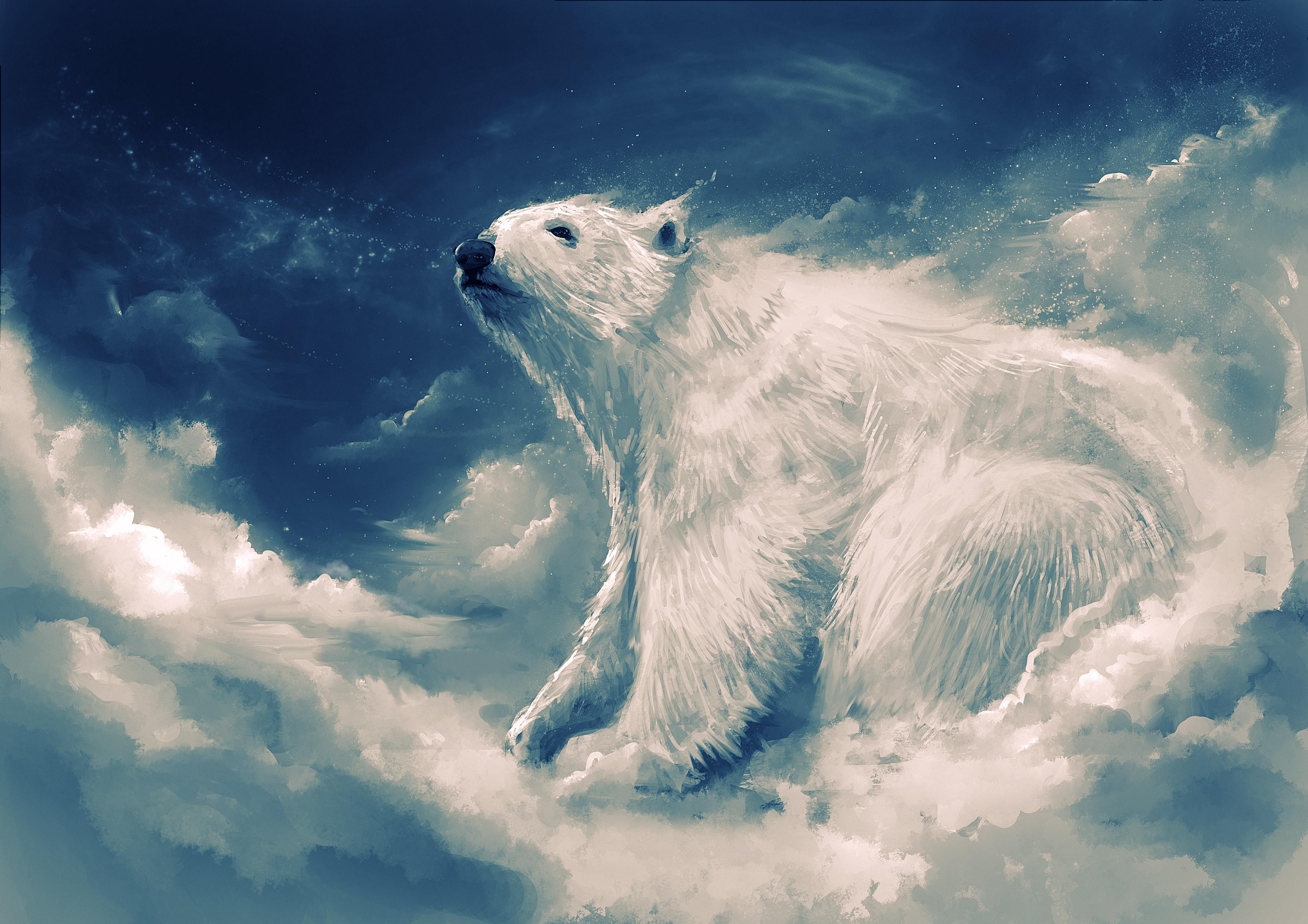 800x1280 Polar Bear Artwork 4k Nexus 7,Samsung Galaxy Tab ...