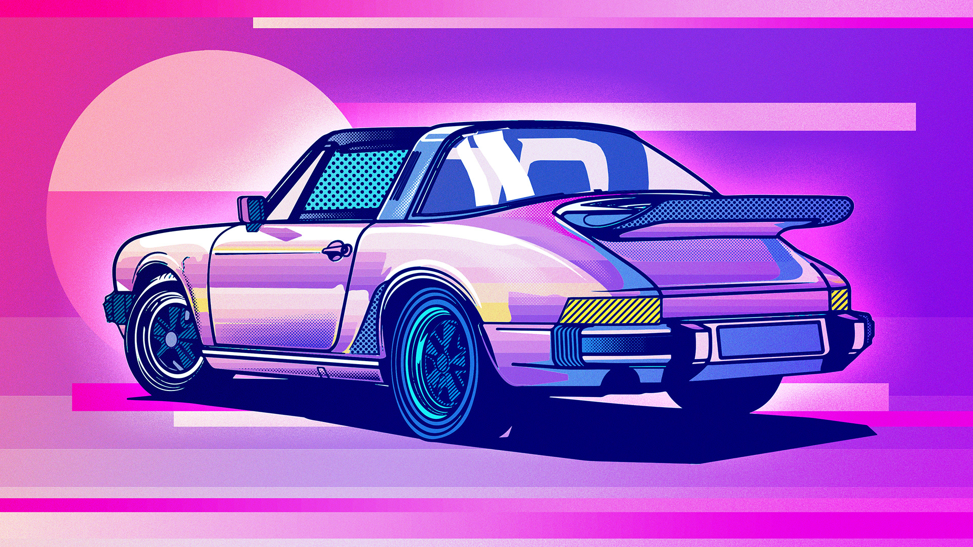 Porsche 911 Classic Illustration Hd Artist 4k Wallpapers Images Backgrounds Photos And Pictures
