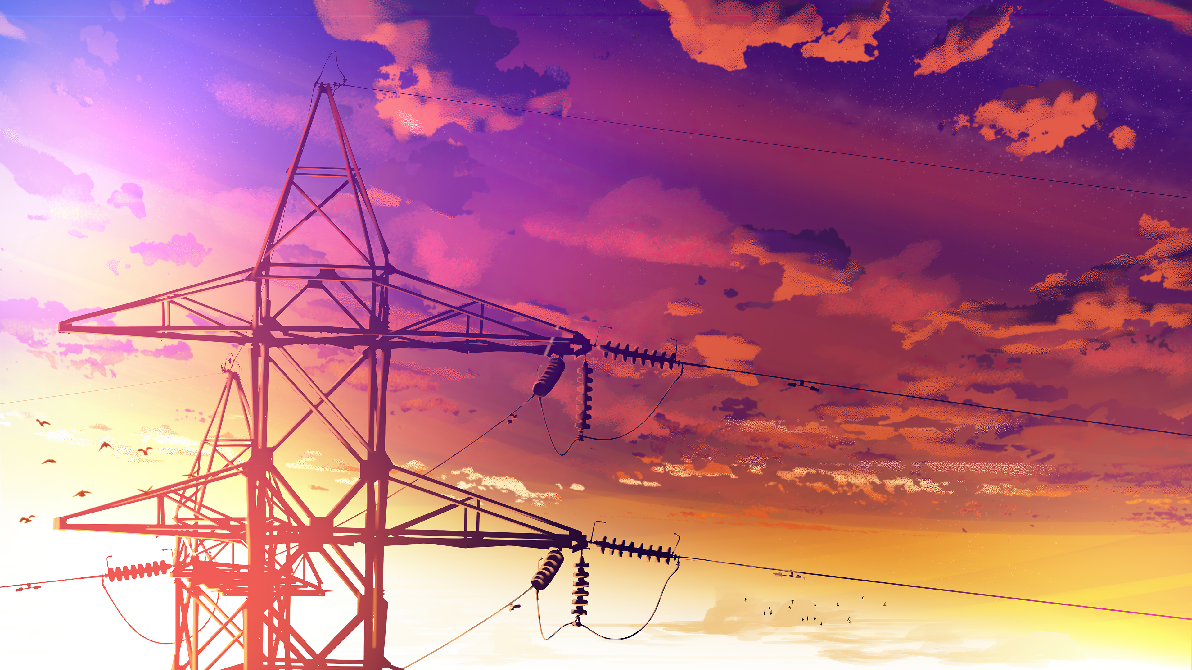 1920x1080 Powerlines Anime Scenery 4k Laptop Full Hd 1080p Hd 4k Wallpapers Images Backgrounds Photos And Pictures