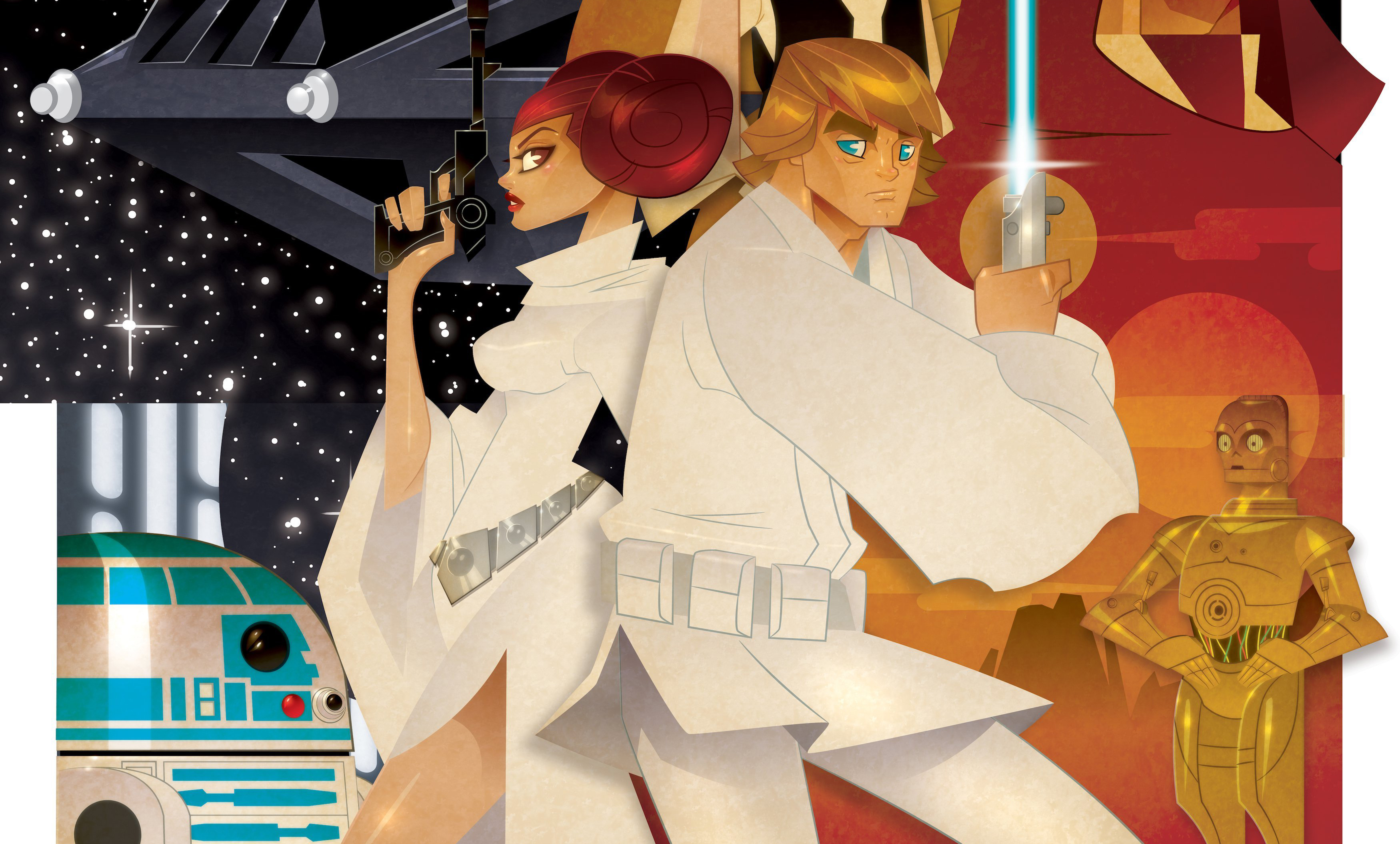 princess leia and luke skywalker star wars bu