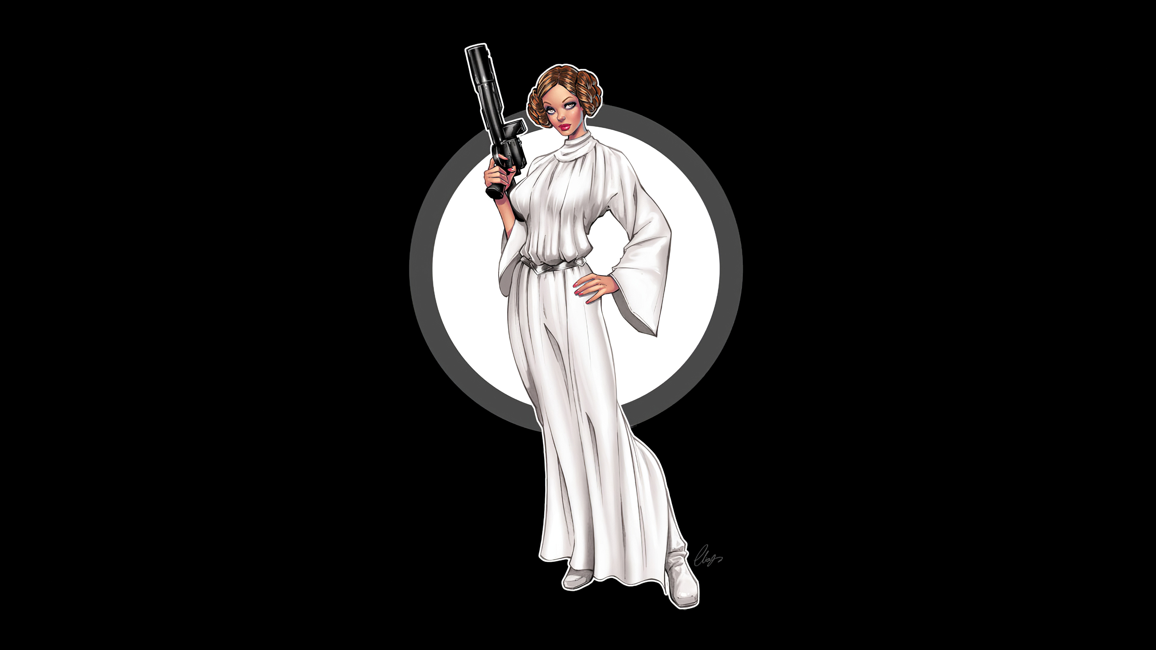 Princess Leia Minimal 4k Hd Movies 4k Wallpapers Images Backgrounds Photos And Pictures