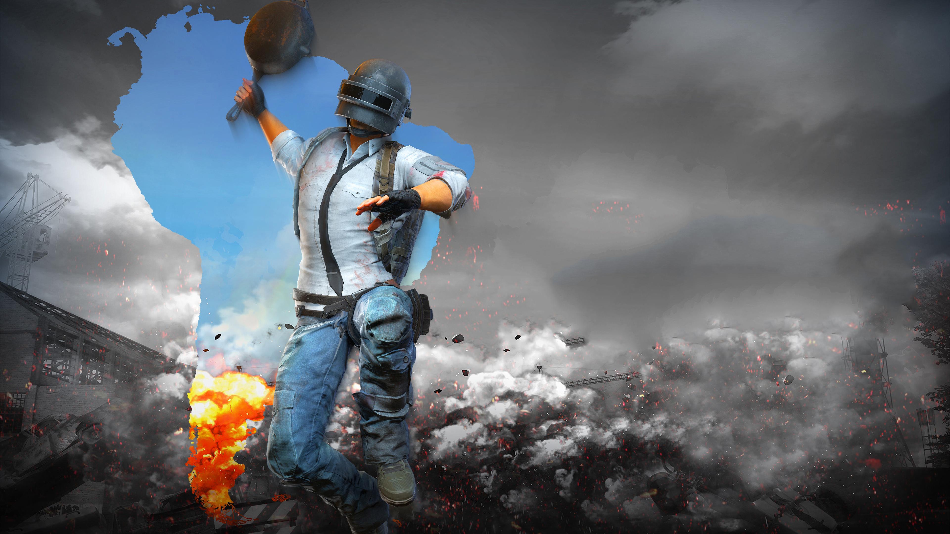 PUBG Helmet Man With Pan 4k, HD Games, 4k Wallpapers ...