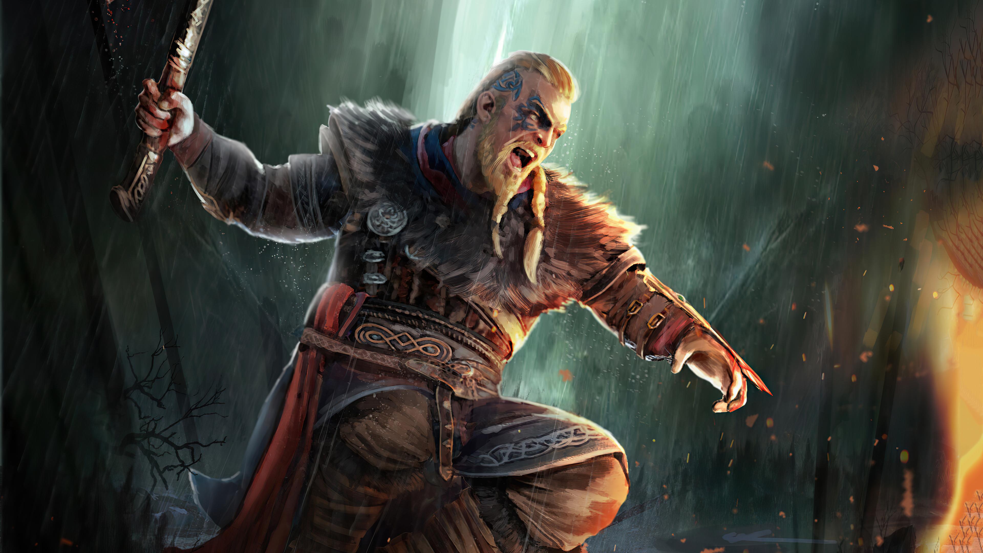 Ragnar Lothbrok Assassins Creed Valhalla 4k Hd Games 4k