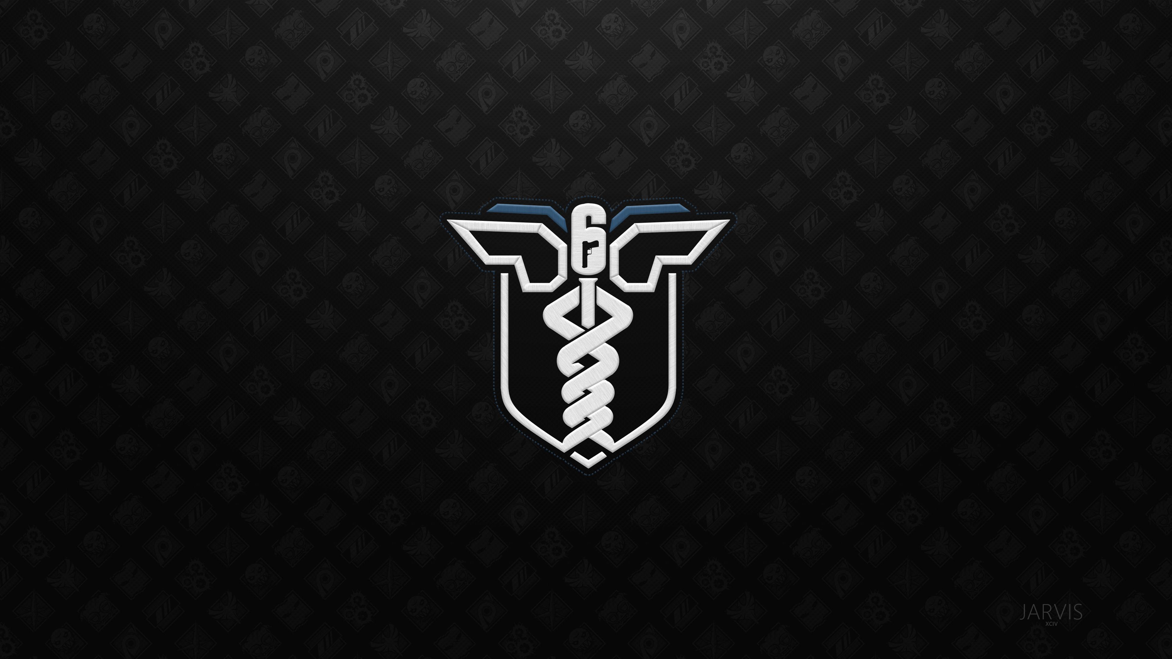 2560x1024 Rainbow Six Siege Minimalist Logo 4k 2560x1024