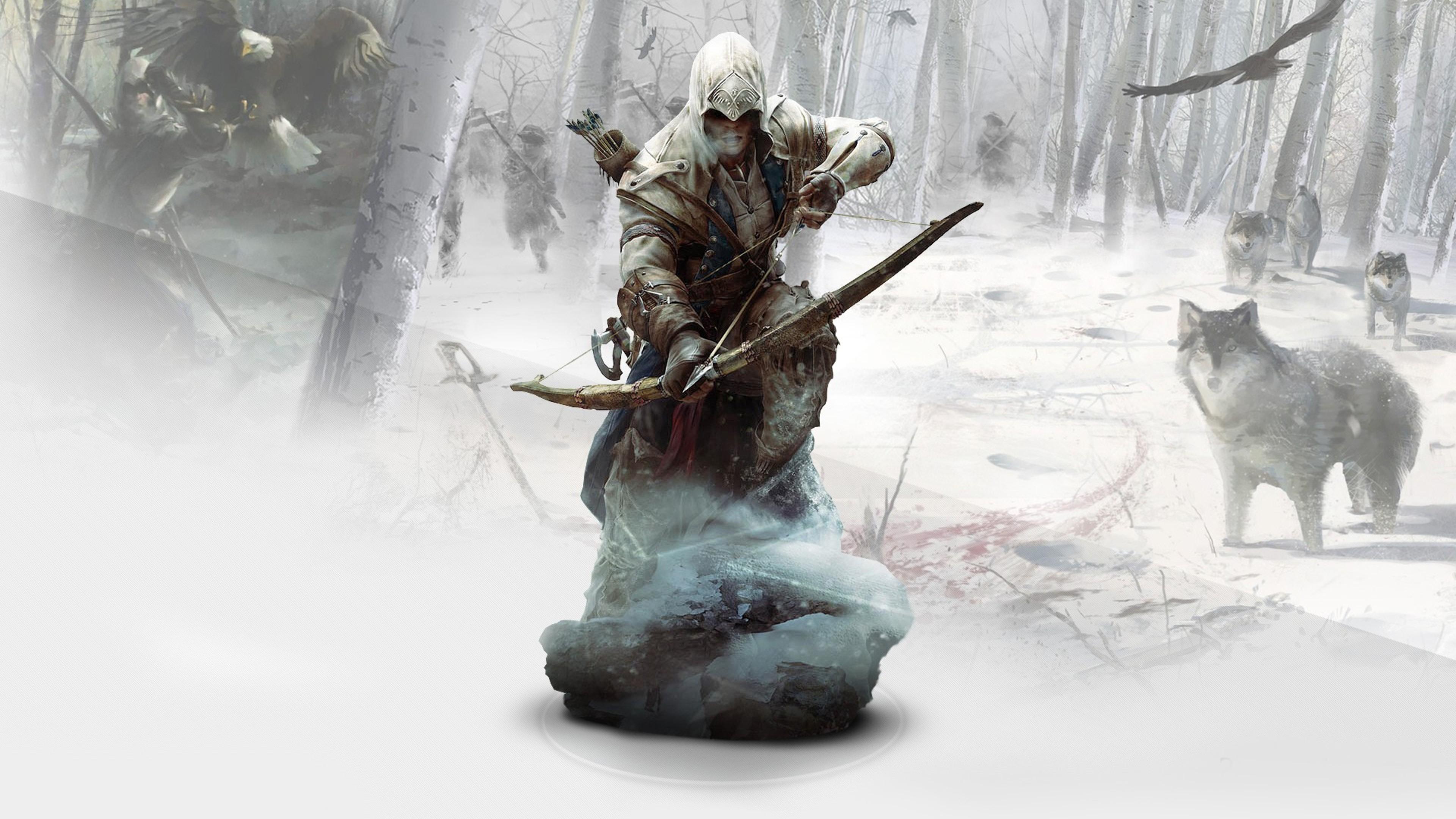 Ratonhnkaketon Assassins Creed 3 Hd Games 4k Wallpapers Images