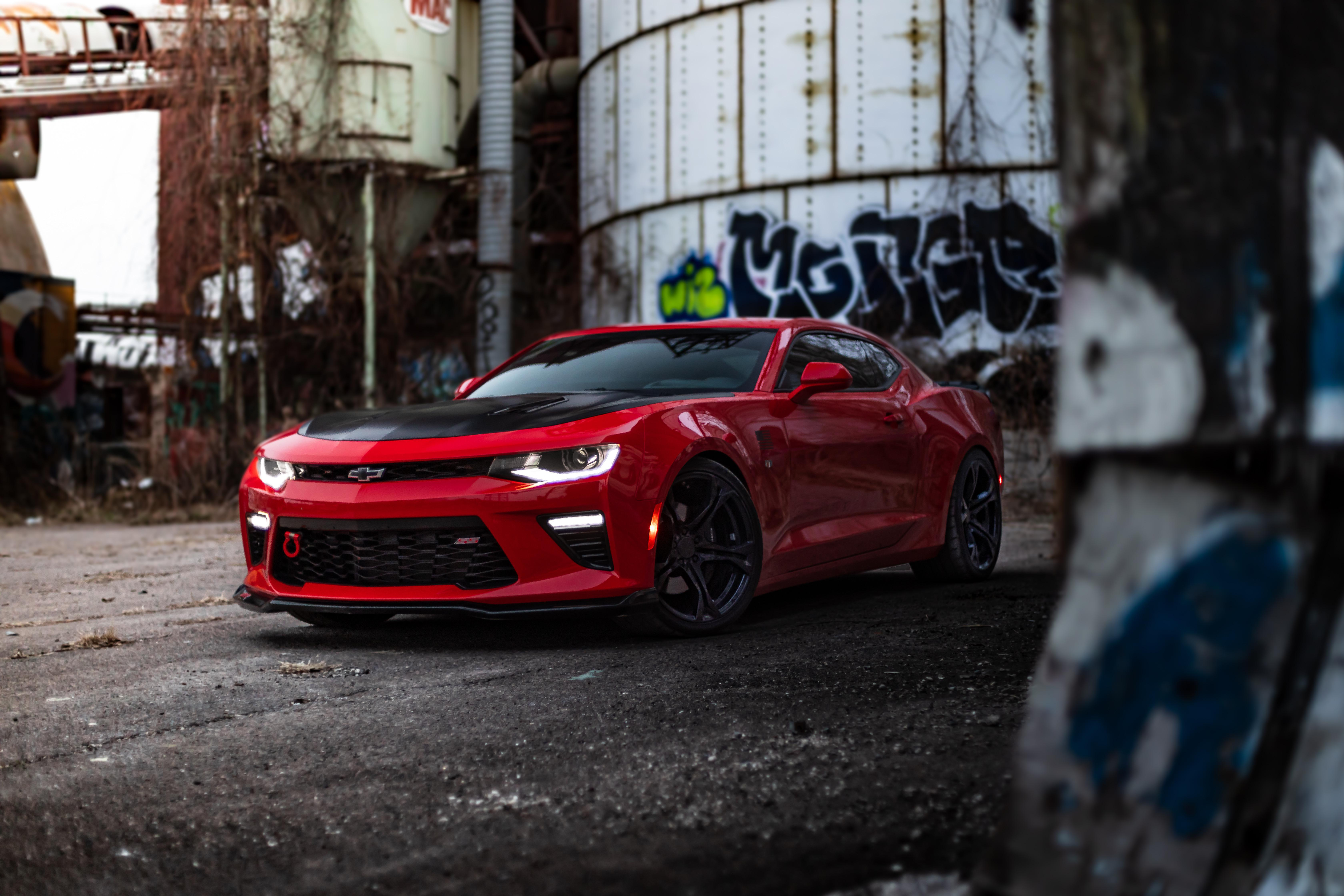 5120x2880 Red Chevrolet Camaro 8k 5k Hd 4k Wallpapers Images Backgrounds Photos And Pictures
