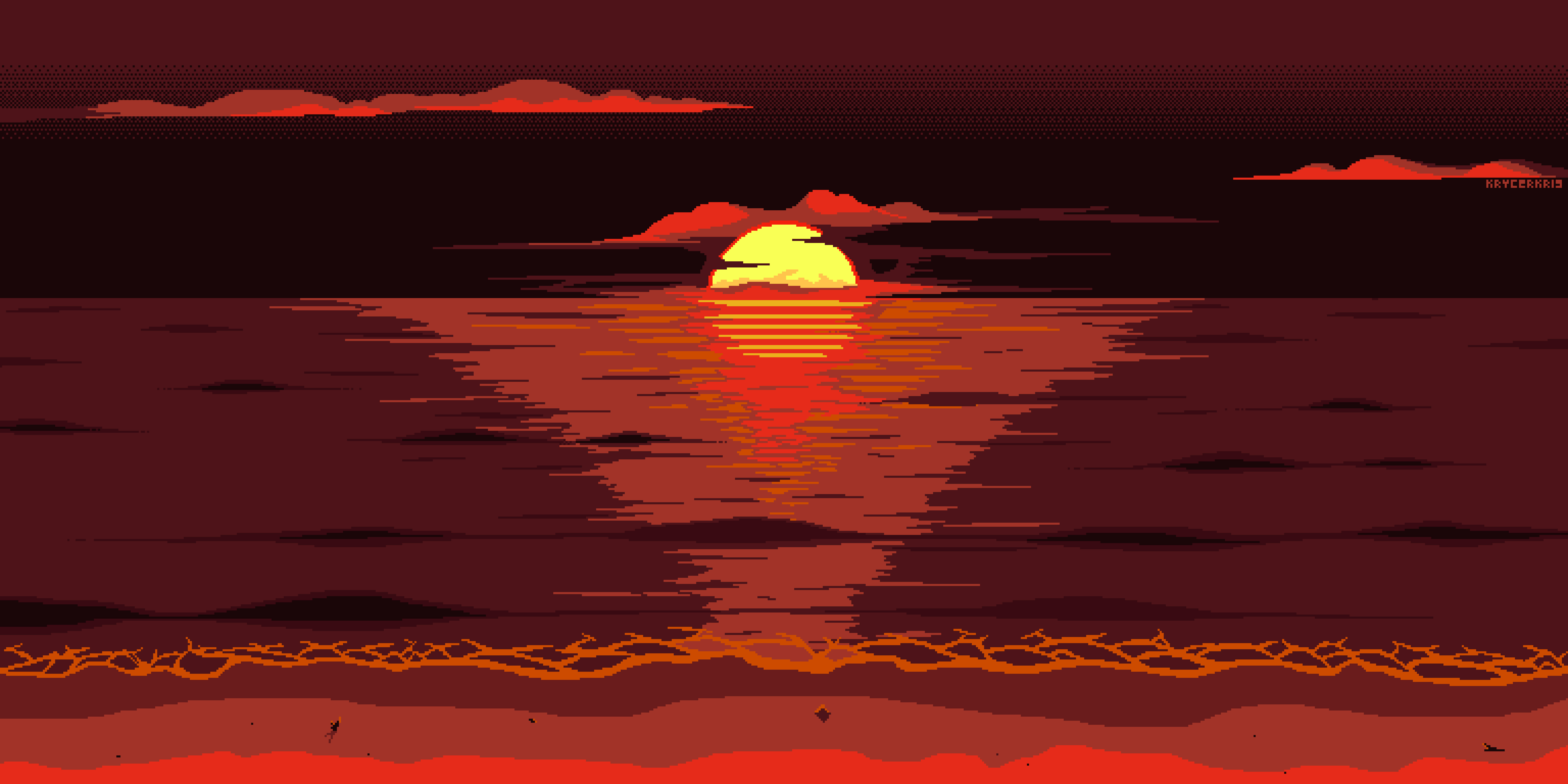1920x1080 Red Dark Pixel Art Sunset 8k Laptop Full Hd 1080p Hd 4k Wallpapers Images Backgrounds Photos And Pictures