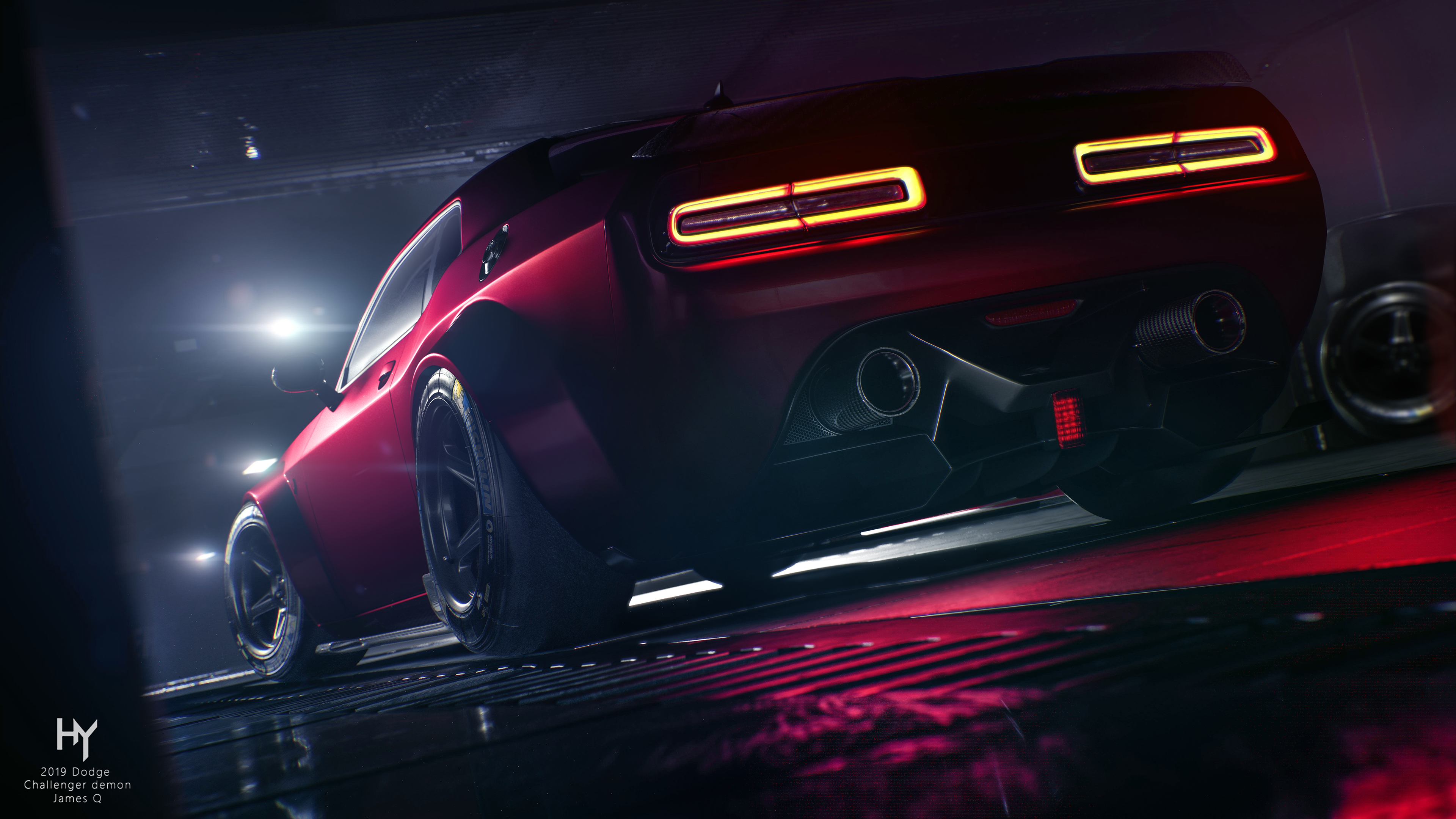 1920x1080 Red Dodge Challenger Rear 4k Laptop Full Hd 1080p Hd 4k Wallpapers Images Backgrounds Photos And Pictures