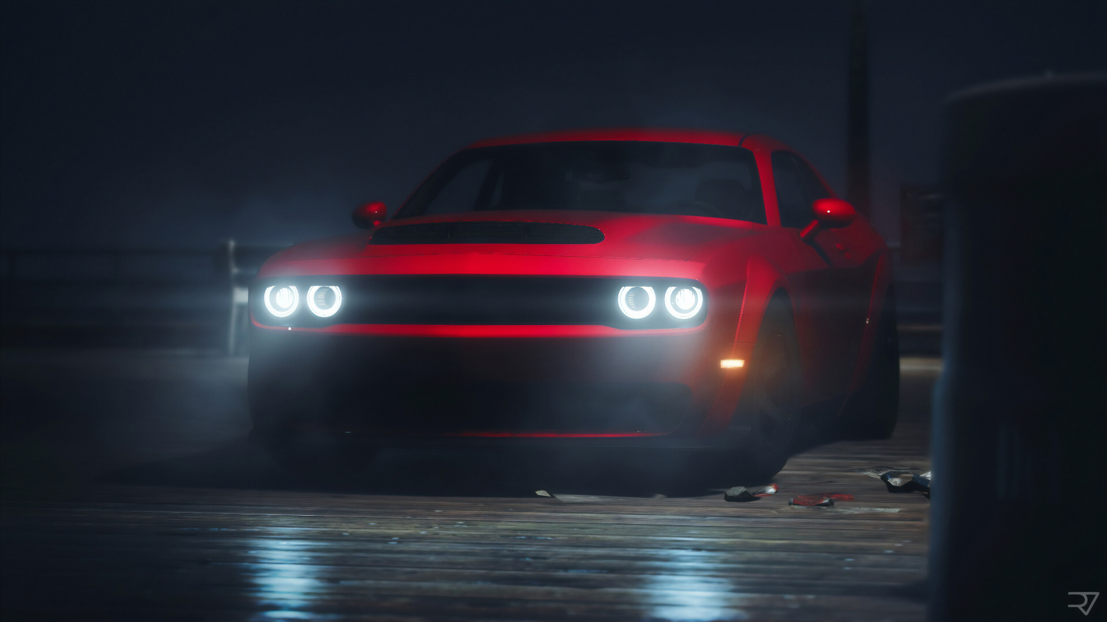 Red Dodge Challenger Srt 4k Hd Cars 4k Wallpapers Images Backgrounds Photos And Pictures