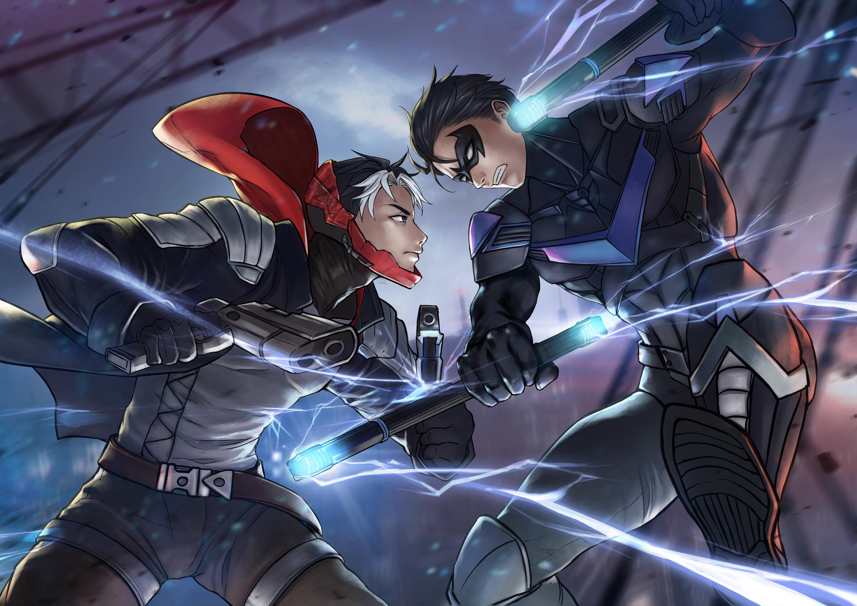 1366x768 Red Hood Vs Nightwing 1366x768 Resolution Hd 4k Wallpapers Images Backgrounds Photos And Pictures