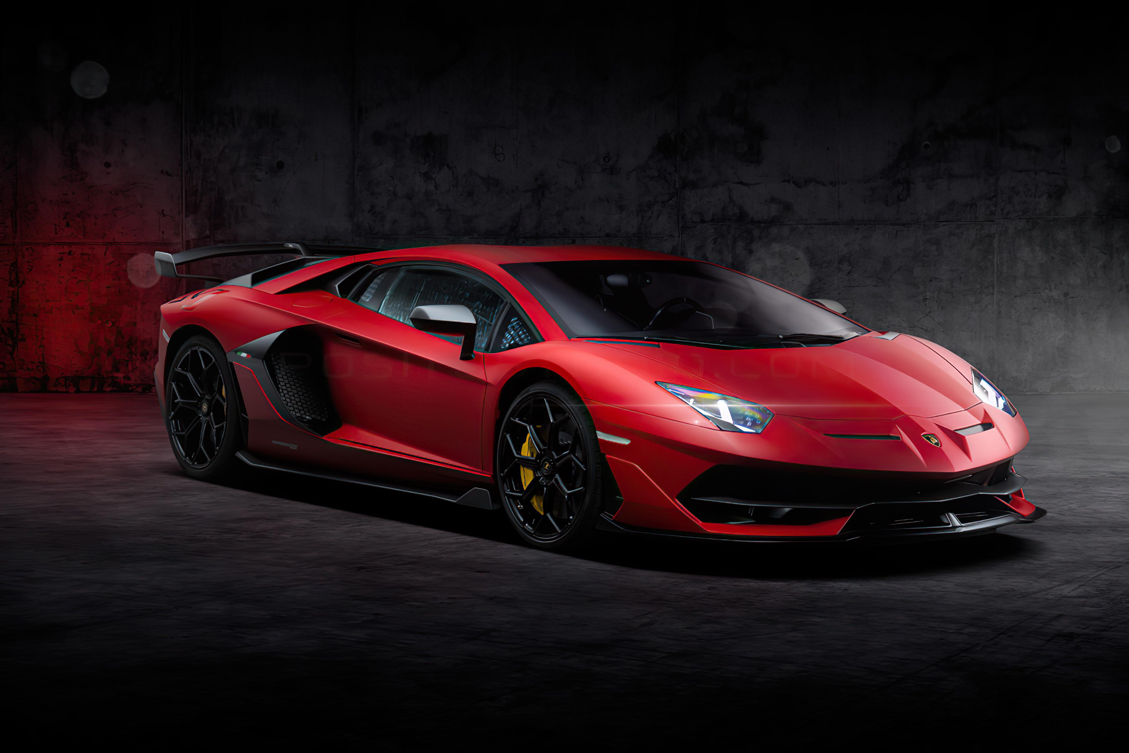 Red Lamborghini Aventador New, HD Cars, 4k Wallpapers ...