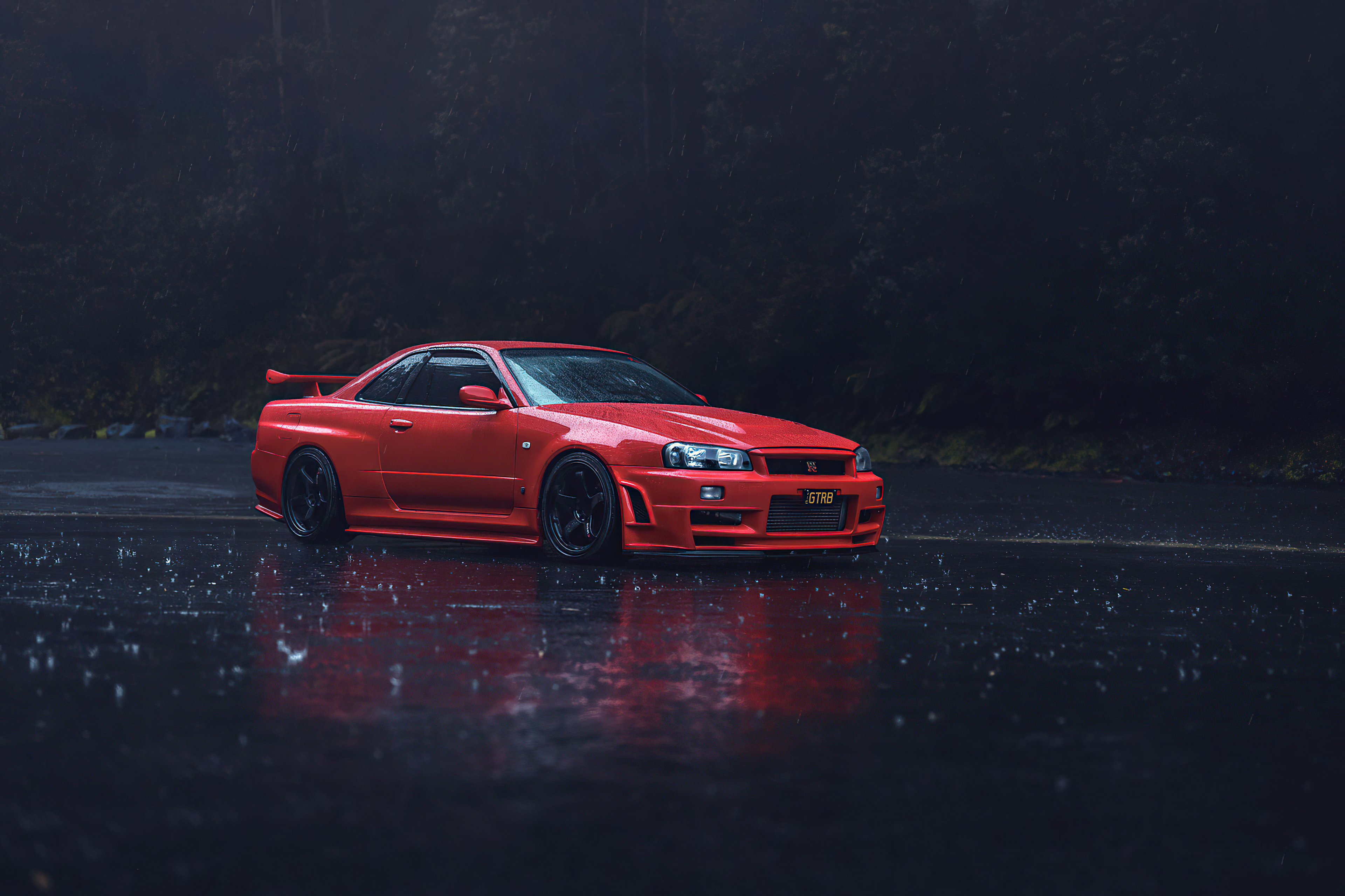 Red Nissan GTR R34, HD Cars, 4k Wallpapers, Images ...