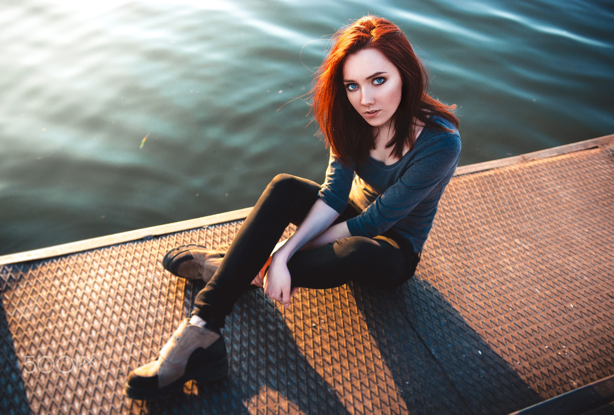 Redhead Girl Blue Eyes, HD Girls, 4k