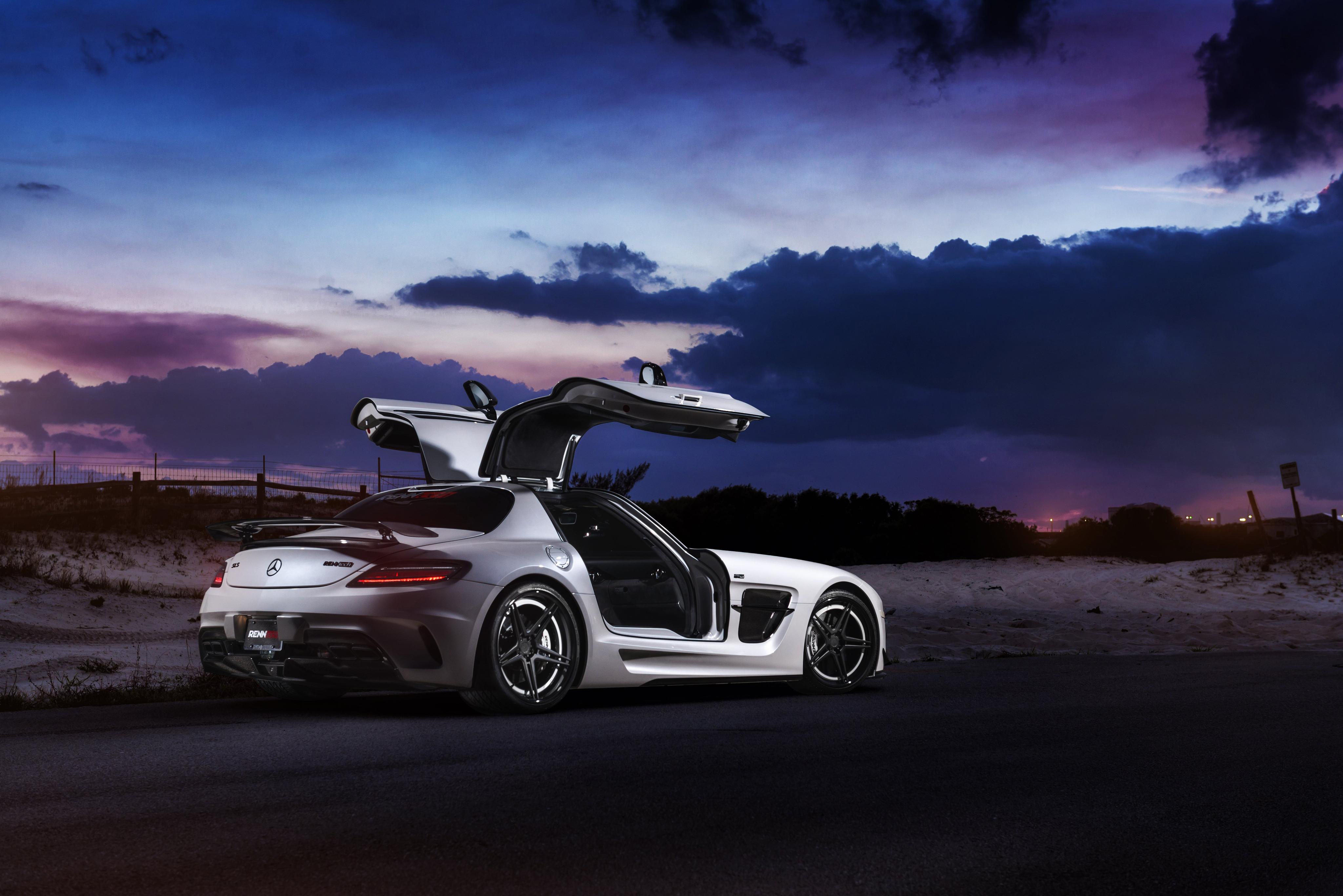 Renntech Mercedes Benz Sls Black Series 4k, HD Cars, 4k ...