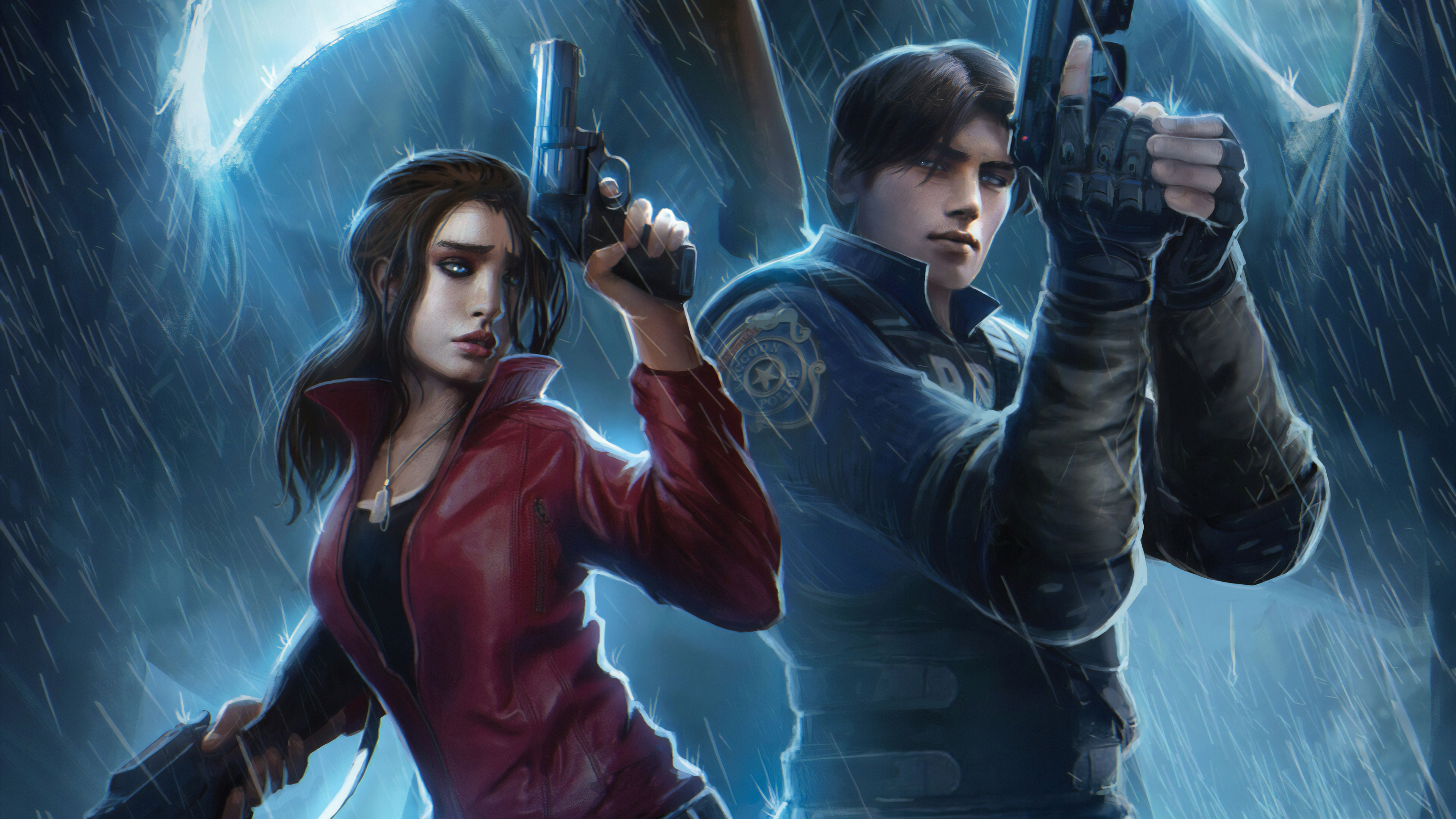 Resident Evil Claire Redfield Chris Redfield 4k Art Hd Games 4k