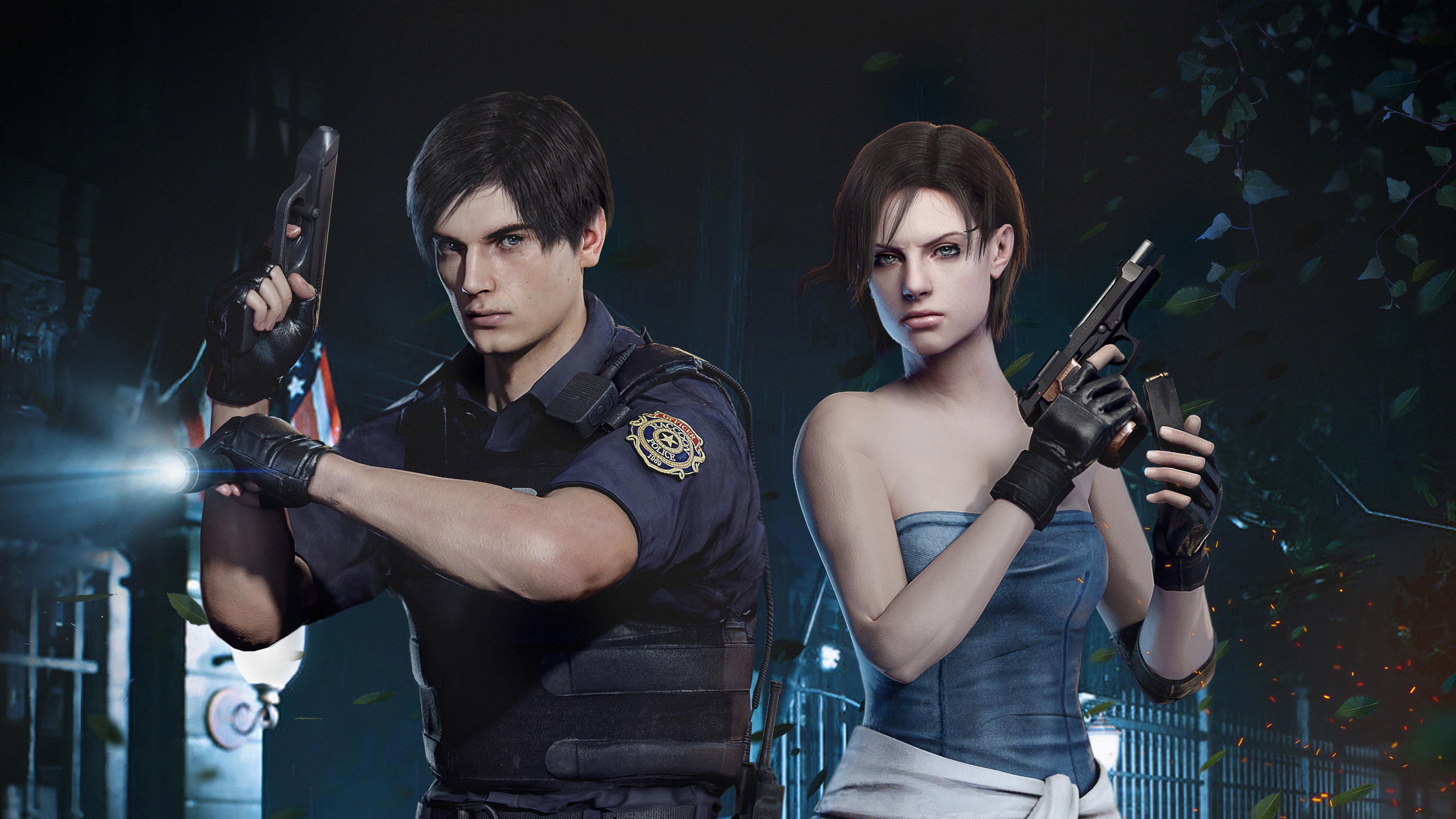 Resident Evil Leon X Jil 4k, HD Games, 4k Wallpapers ...