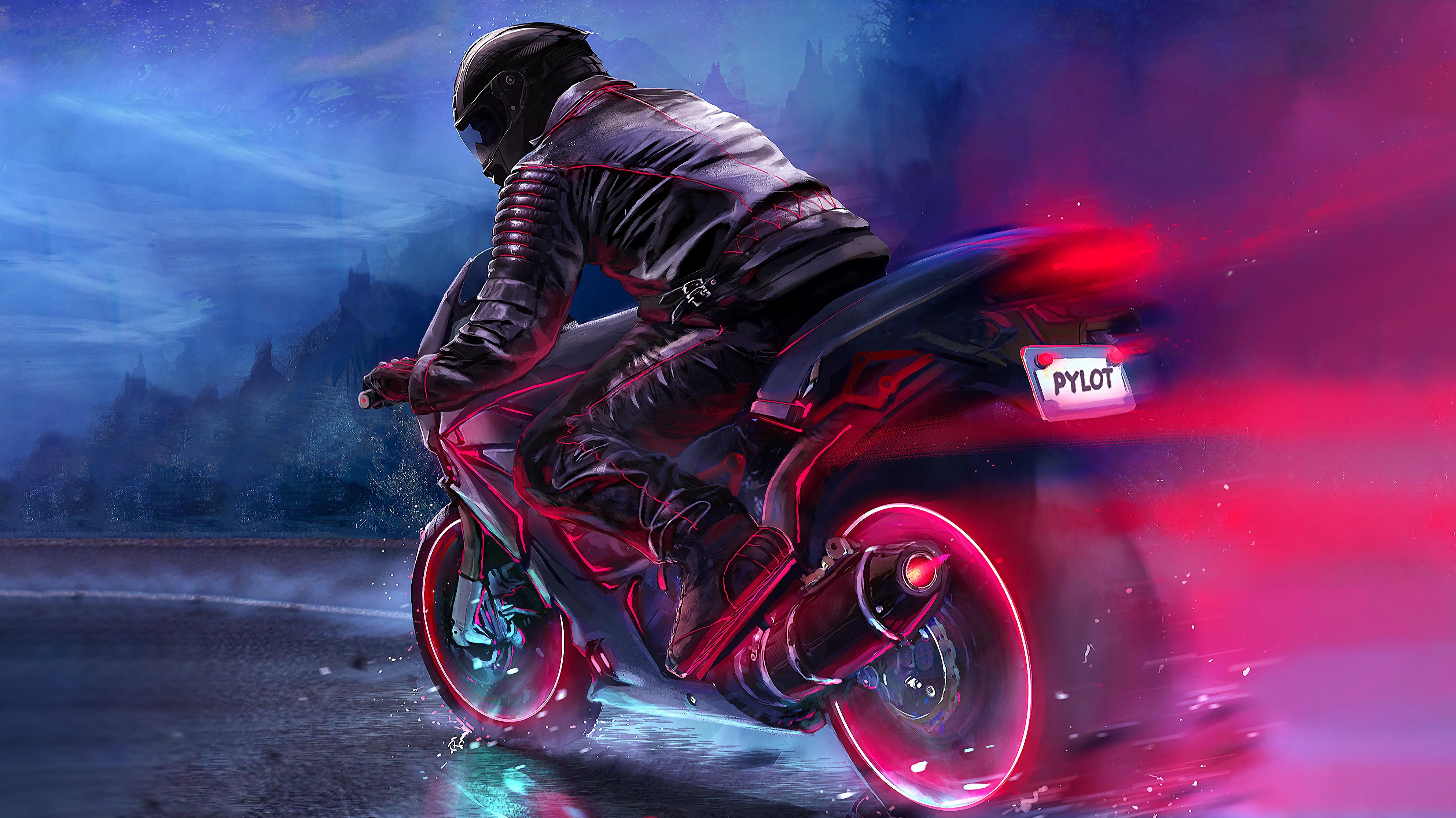 1366x768 Retro Bike Rider 4k 1366x768 Resolution HD 4k ...