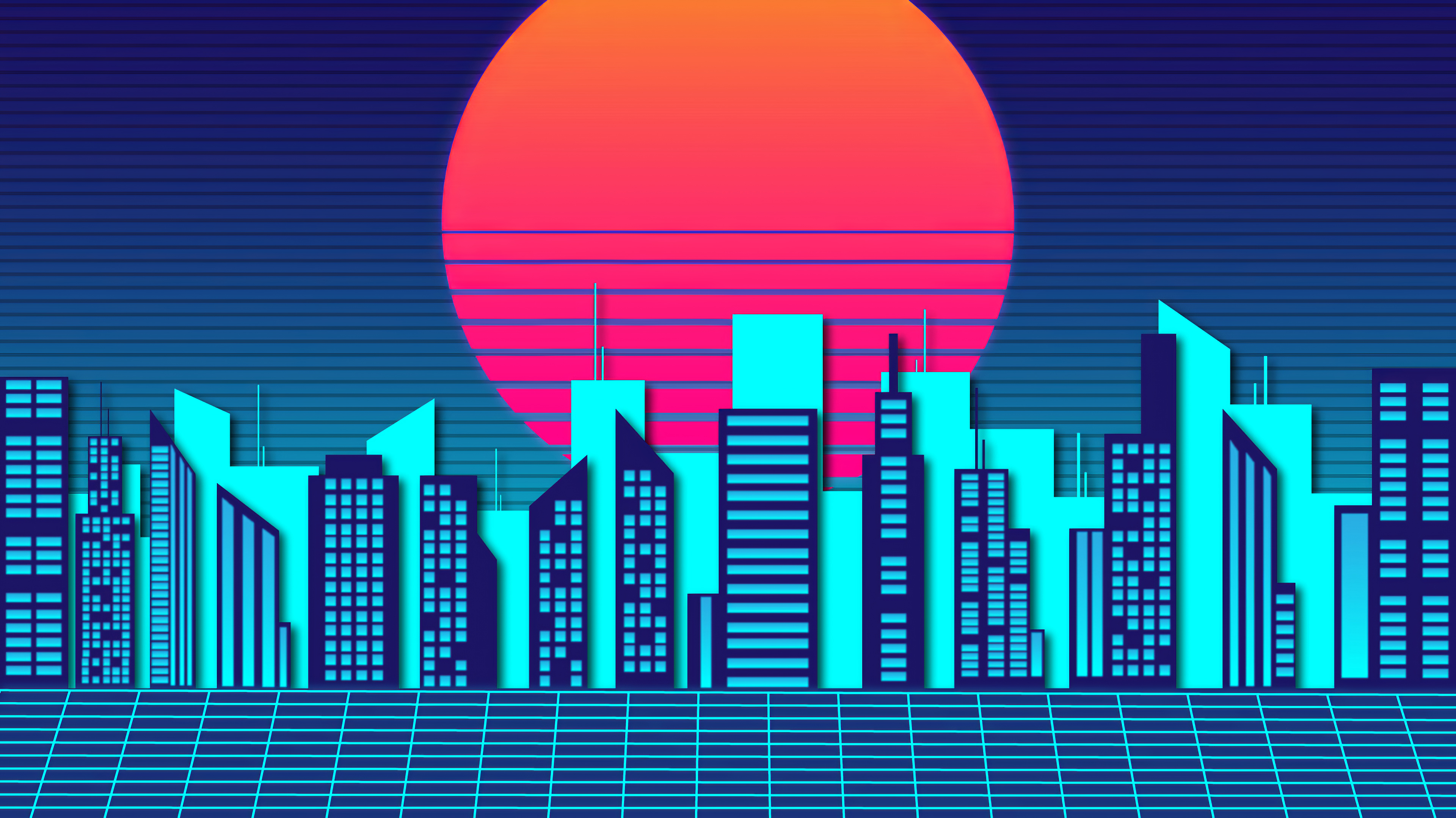 Retro City Wave 4k, HD Artist, 4k ...