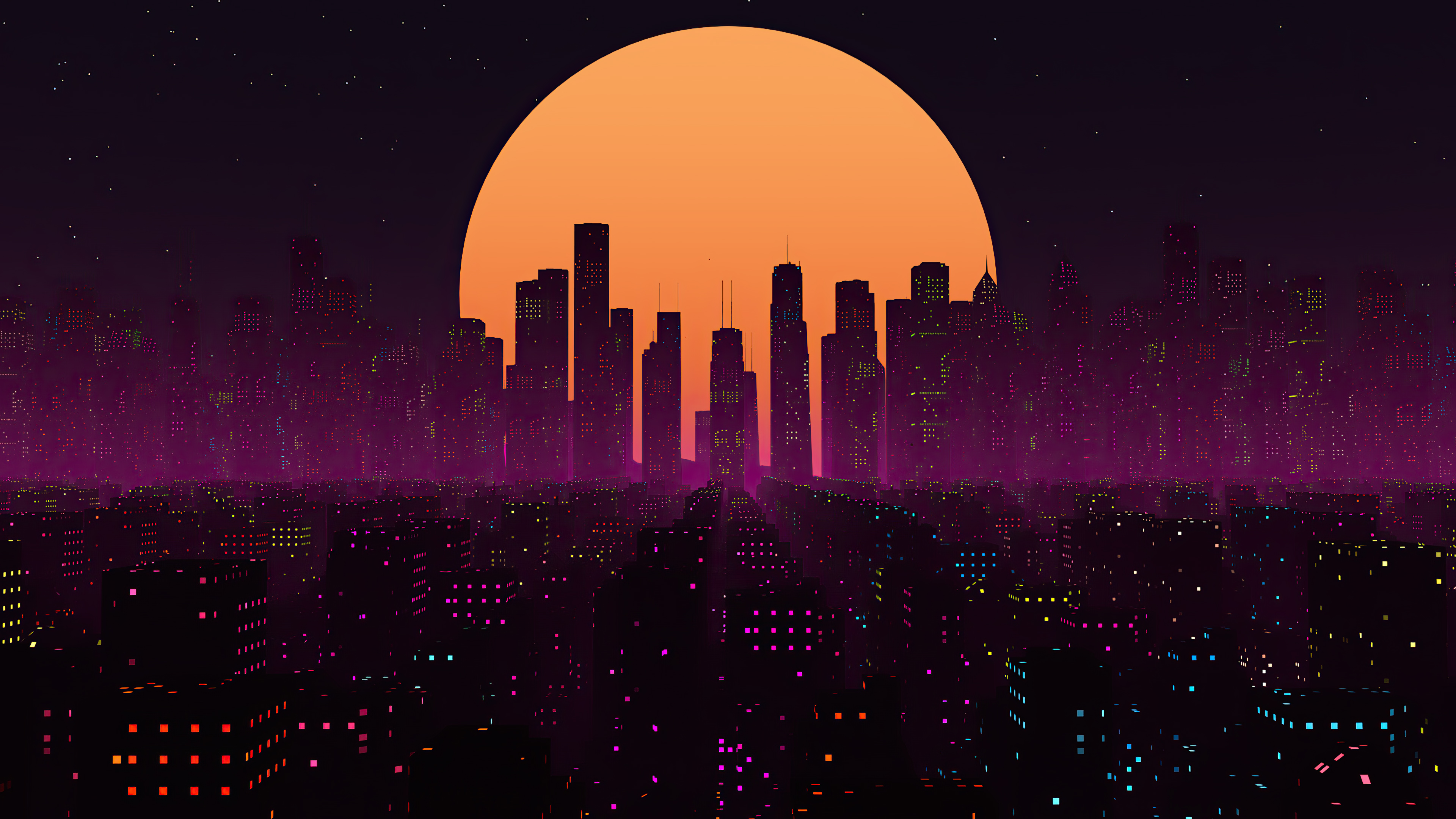 Retrowave City Sunset 4k Hd Artist 4k Wallpapers Images Backgrounds Photos And Pictures