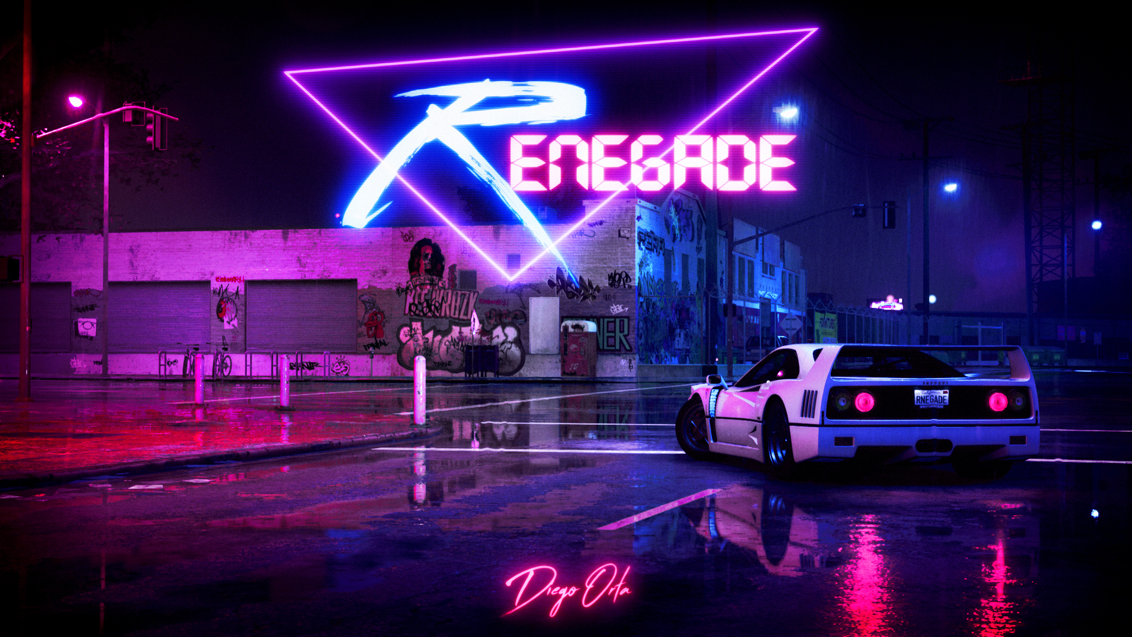 Retrowave Cyberpunk Car 4k Hd Artist 4k Wallpapers Images Backgrounds Photos And Pictures