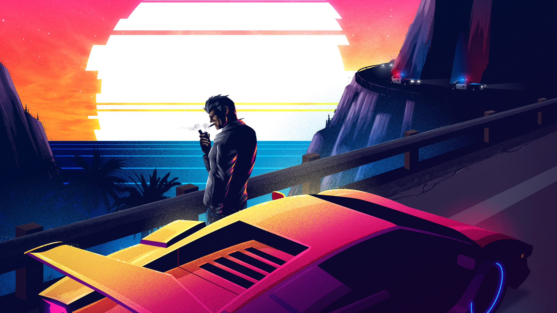 Retrowave Smoking Person Hd Artist 4k Wallpapers Images Backgrounds Photos And Pictures