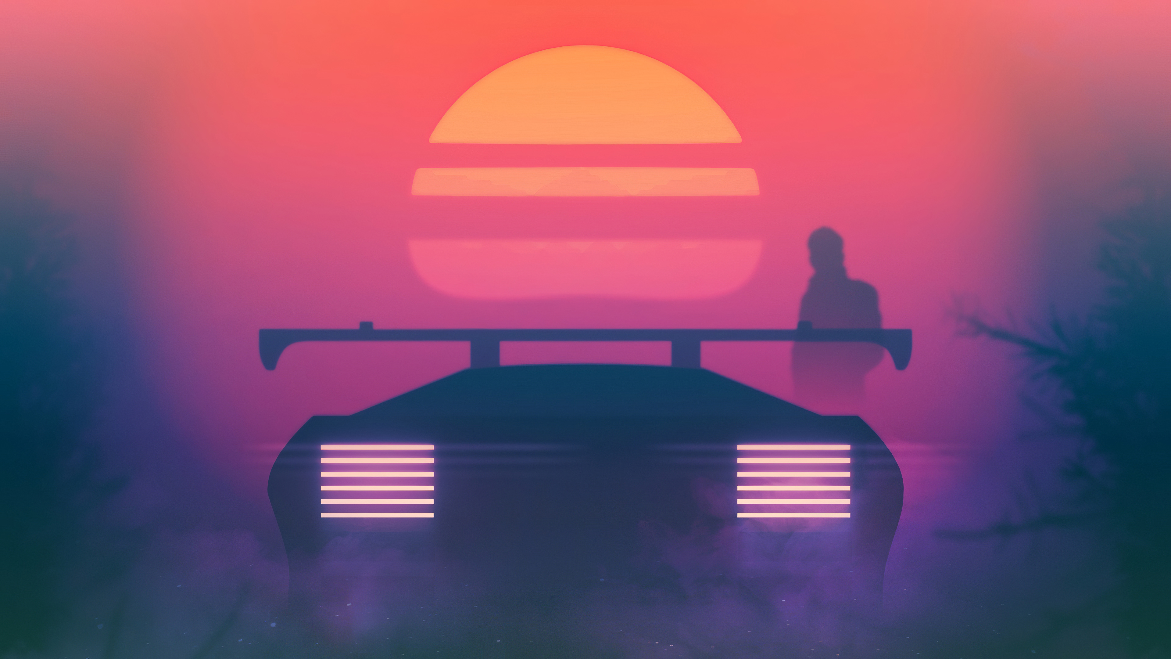 Retrowave Synthwave Evening Ride 4k Hd Artist 4k Wallpapers Images Backgrounds Photos And Pictures