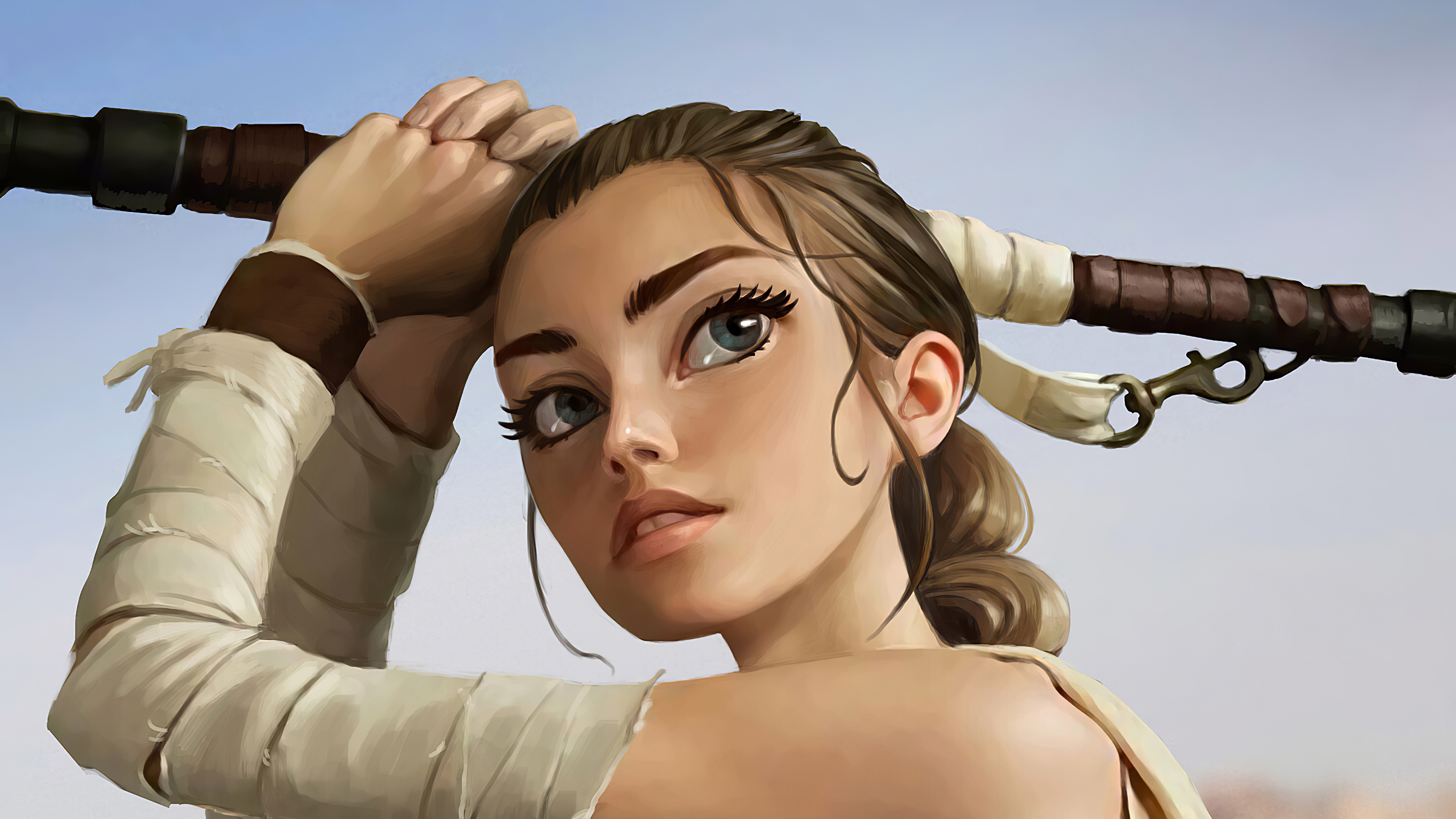 1280x720 Rey Star Wars Digital Art 4k 720p Hd 4k Wallpapers Images Backgrounds Photos And Pictures
