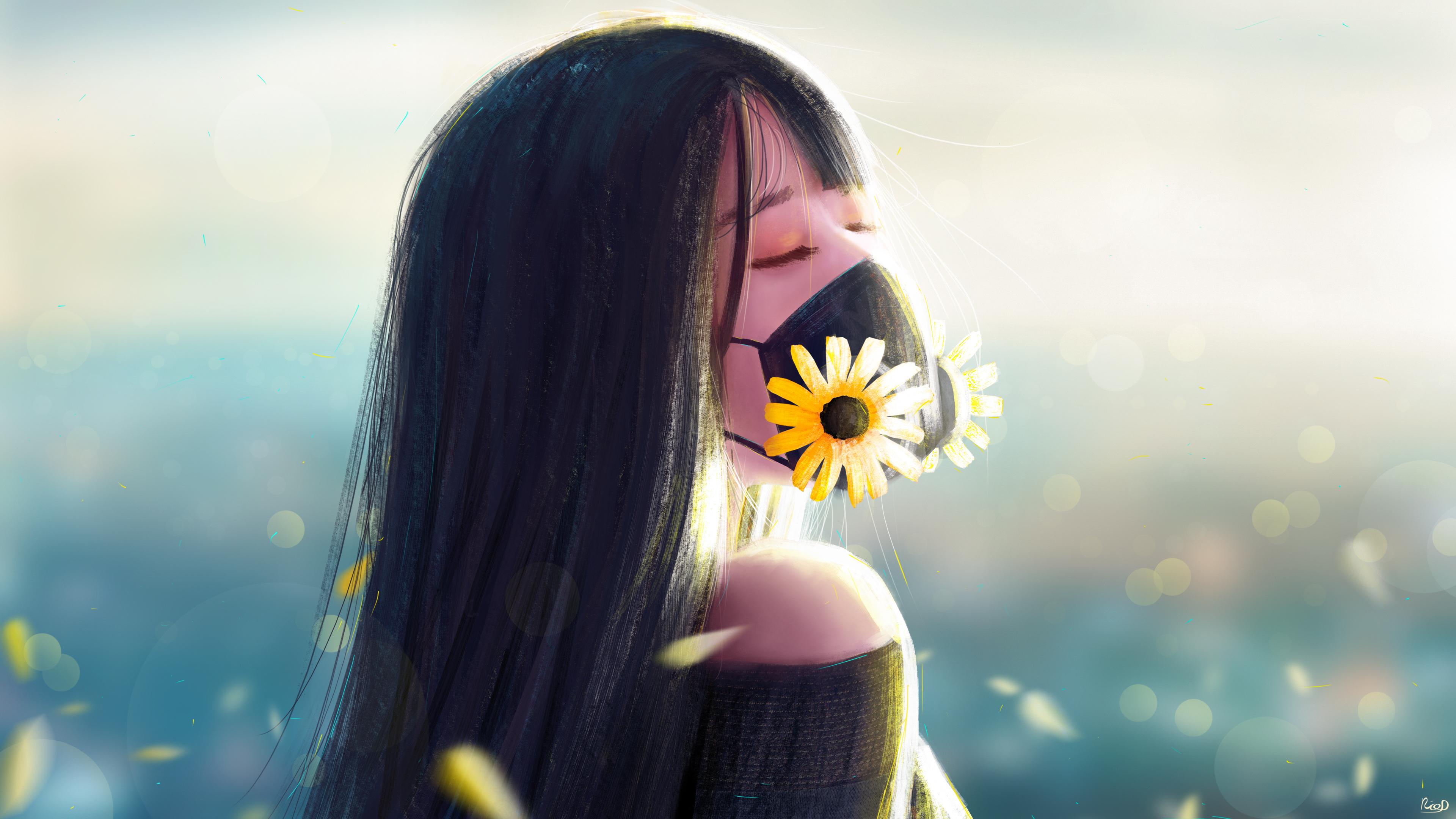 Ricodz Anime Girl Gas Mask, HD Anime, 10k Wallpapers, Images