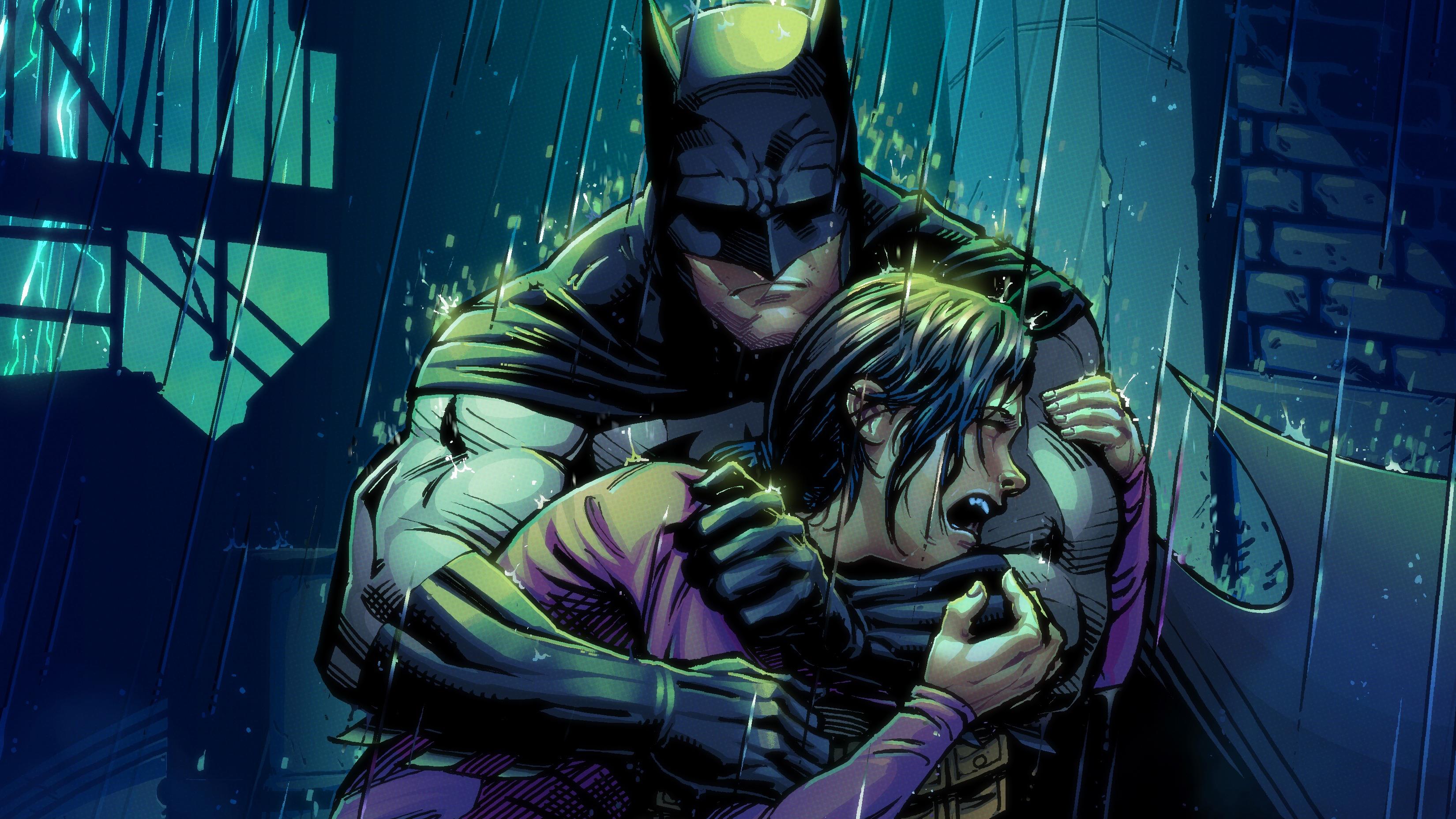 Robin Crying In Batman Arms, HD Superheroes, 4k Wallpapers ...