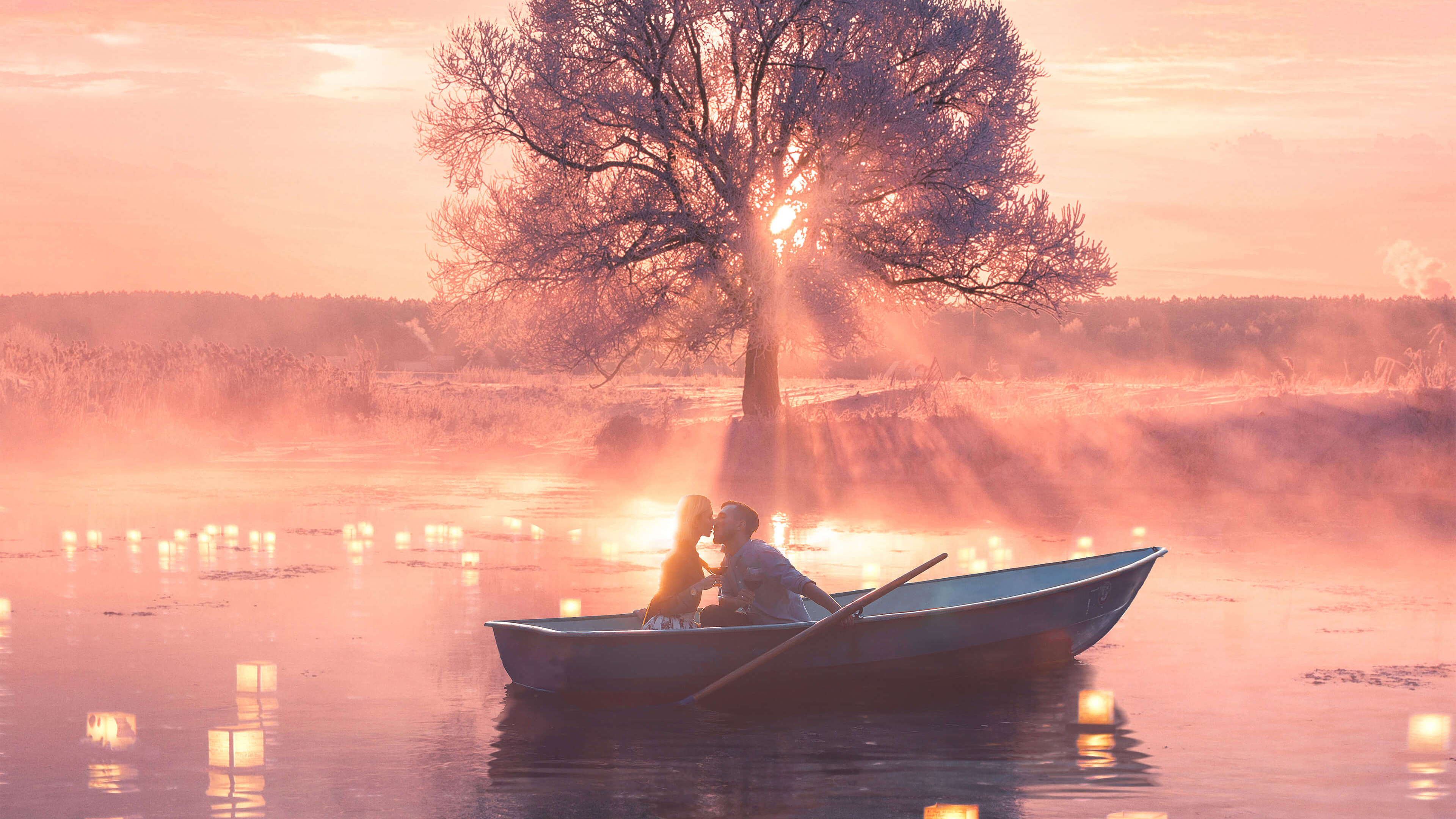 Romantic Couple Boat Hd Love 4k Wallpapers Images Backgrounds Photos And Pictures