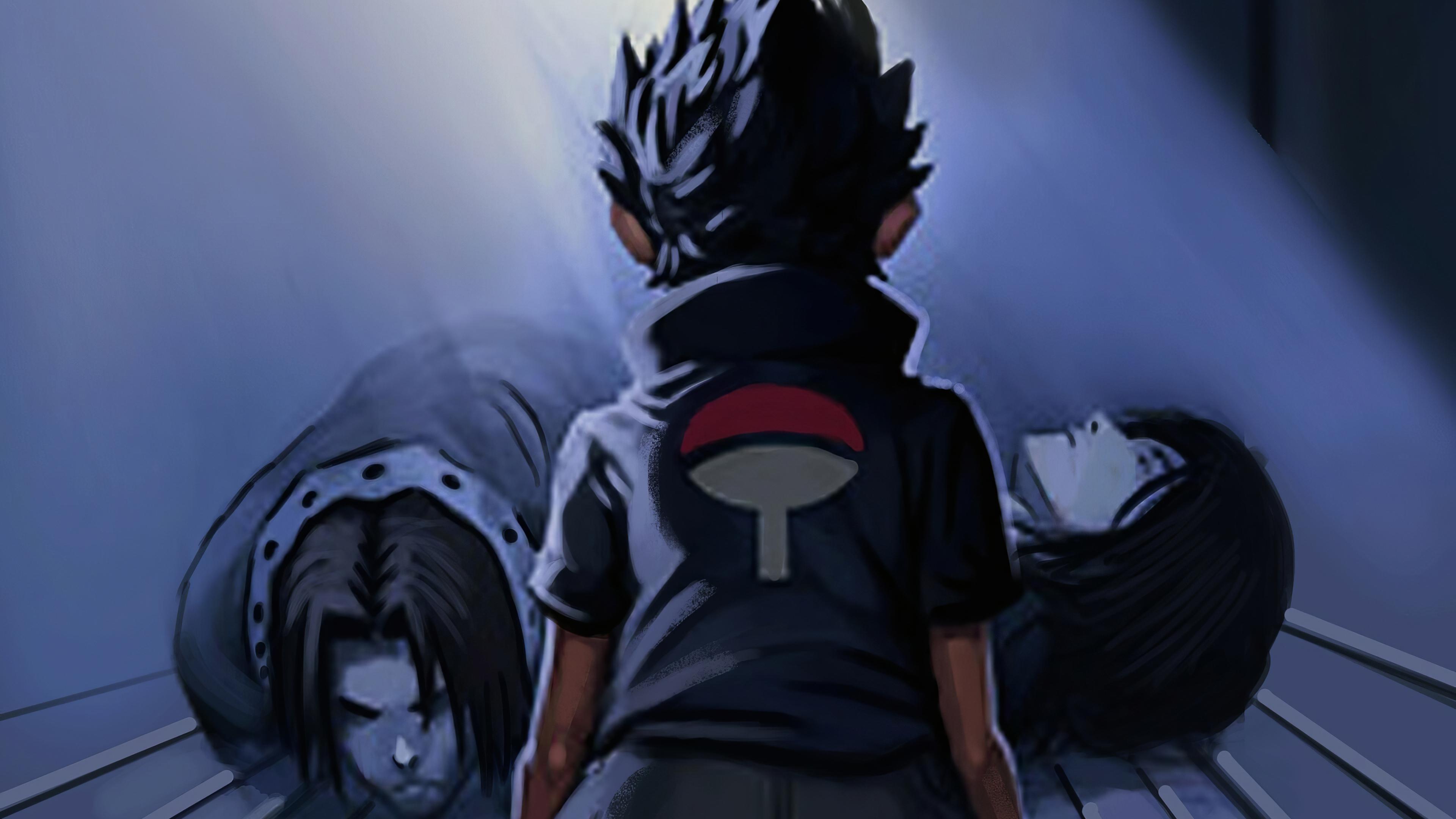 sasuke death of parents 4k nn
