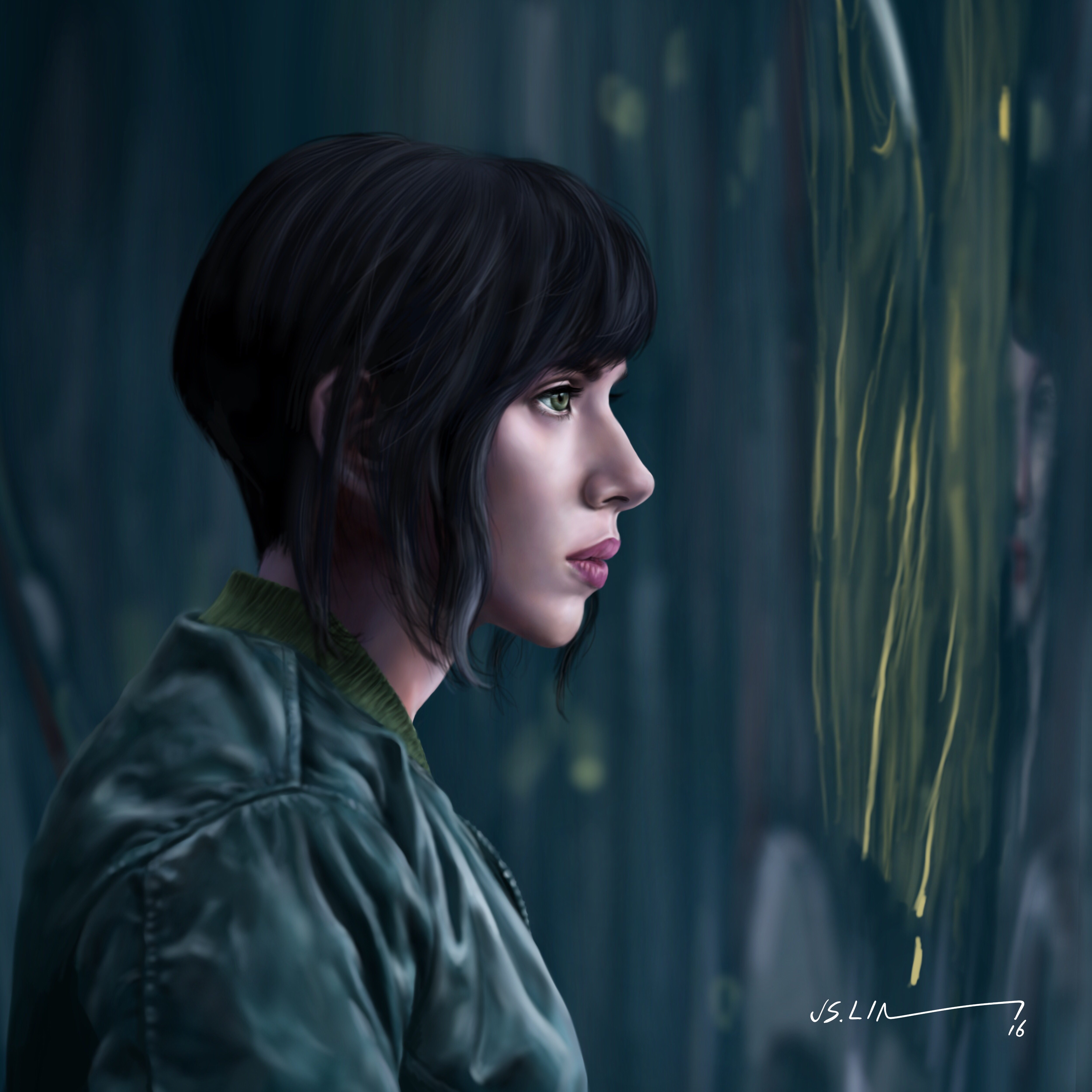Scarlett Johansson Artwork Ghost In The Shell Hd Movies 4k