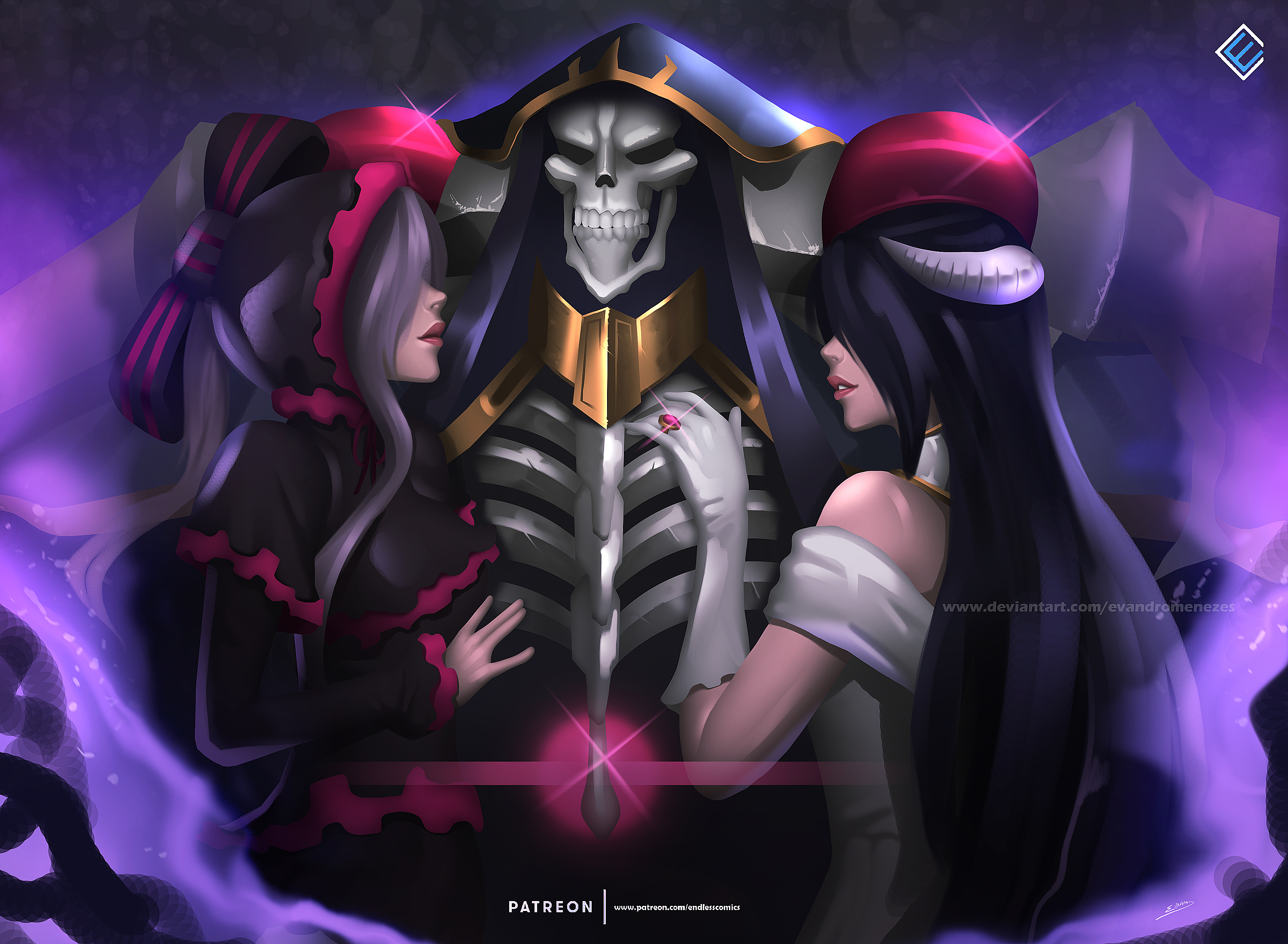 750x1334 Shalltear Bloodfallen Ainz Ooal Gown Albedo Iphone 6 Iphone 6s Iphone 7 Hd 4k Wallpapers Images Backgrounds Photos And Pictures