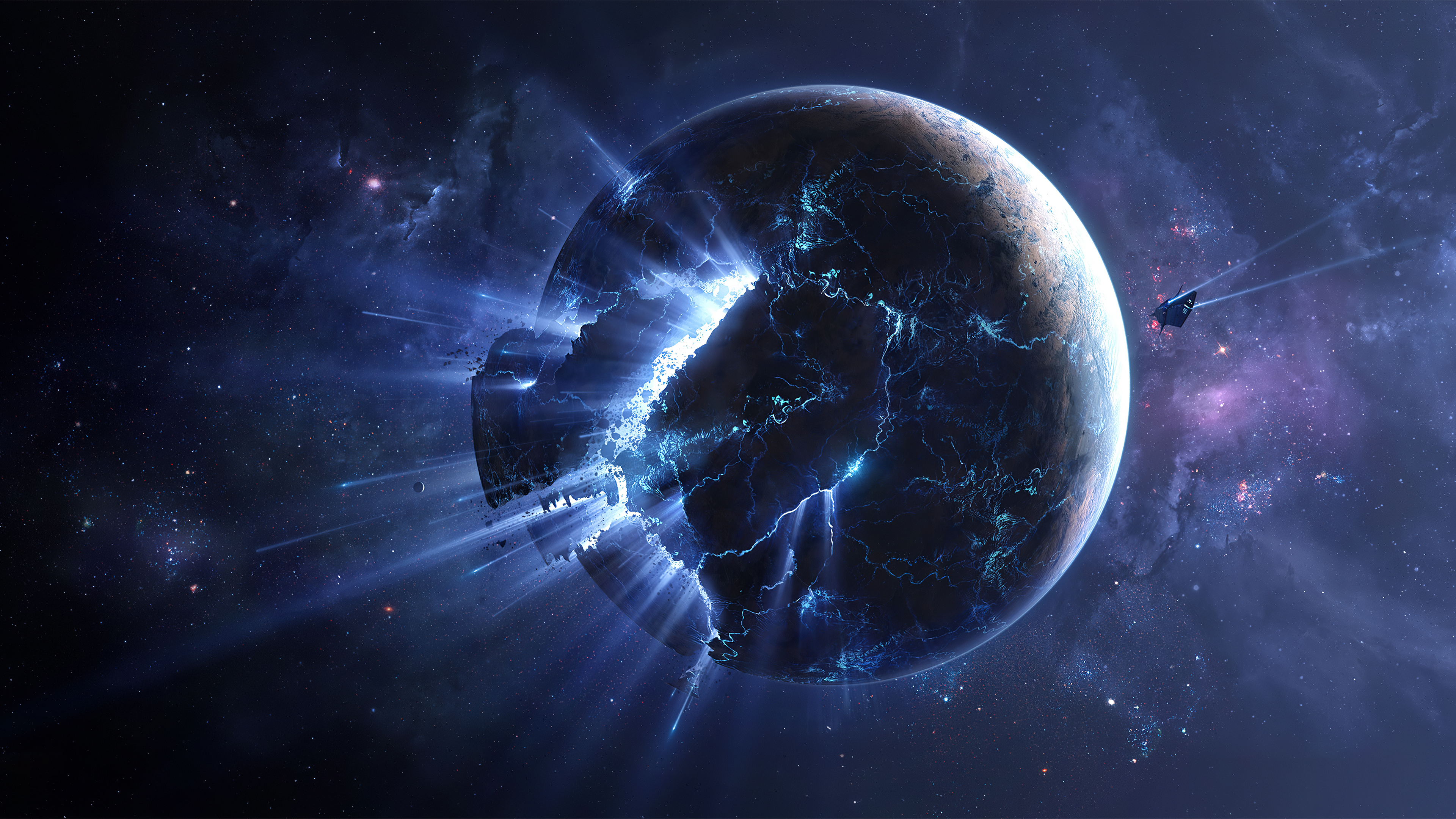 Shattered Planet 4k Hd Digital Universe 4k Wallpapers Images Backgrounds Photos And Pictures